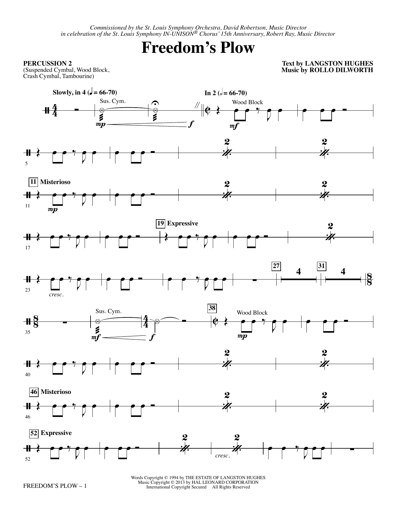 Freedom's Plow - Percussion 2 Sheet Music