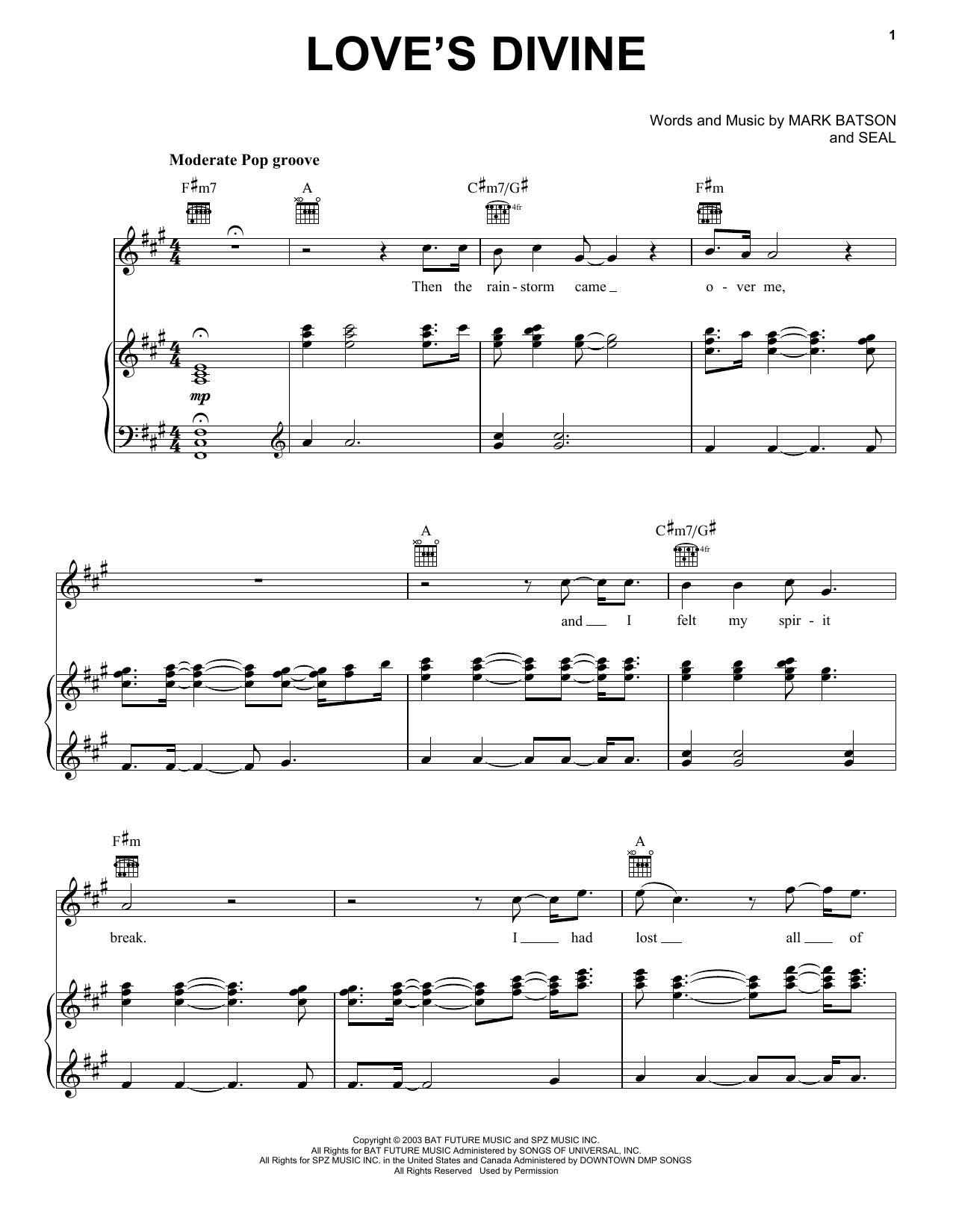 Love's Divine Sheet Music