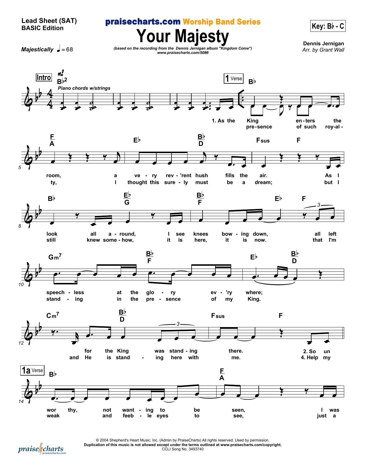 Your Majesty Sheet Music