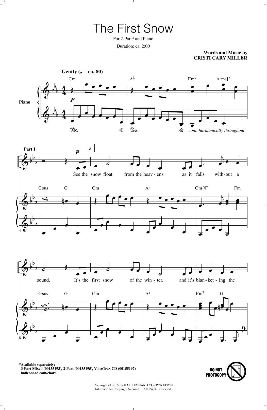 The First Snow Sheet Music
