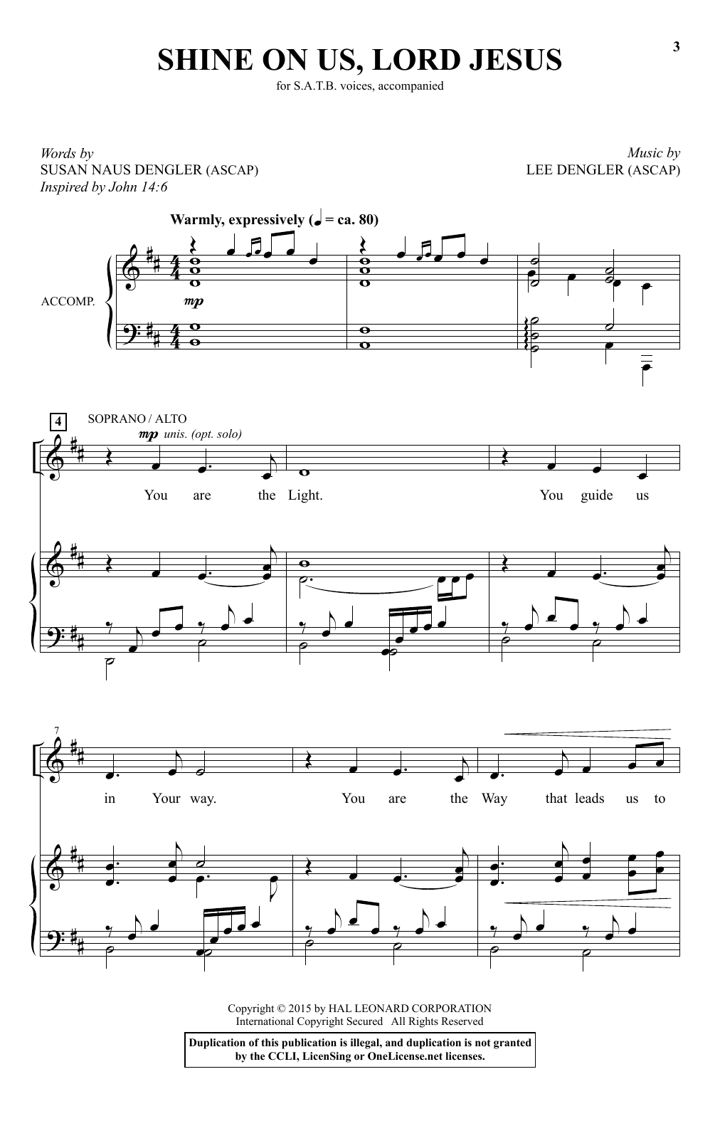 Shine On Us, Lord Jesus Sheet Music