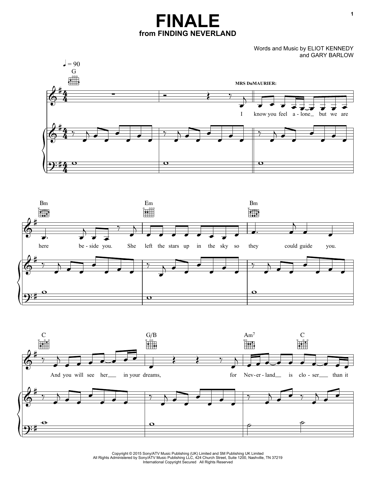 Finale (All That Matters) (from 'Finding Neverland') Sheet Music