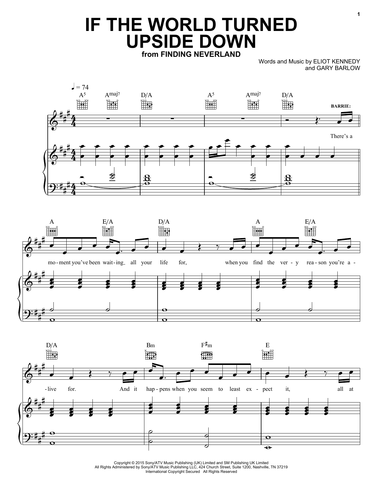 If The World Turned Upside Down Sheet Music