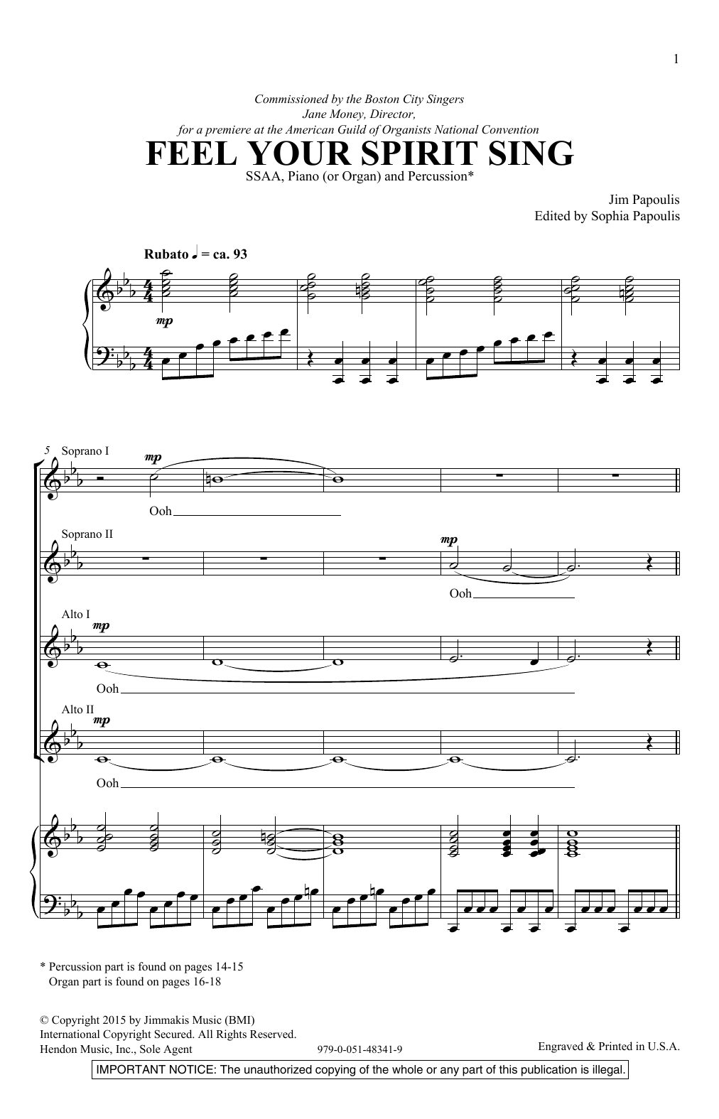 Sheet Music Digital Files To Print - Licensed Jim Papoulis Digital