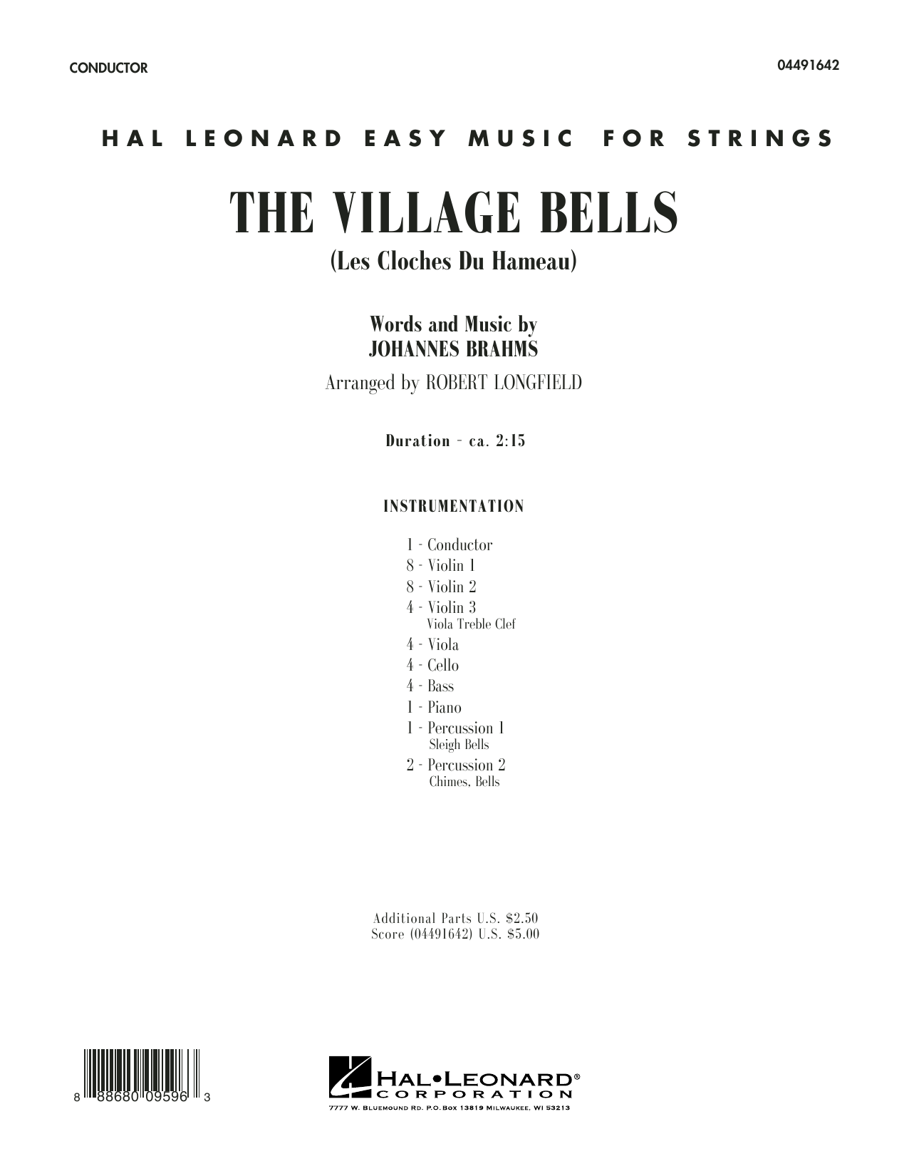 The Village Bells (Les Cloche du Hameau) (COMPLETE) sheet music for orchestra by Robert Longfield and Johannes Brahms. Score Image Preview.