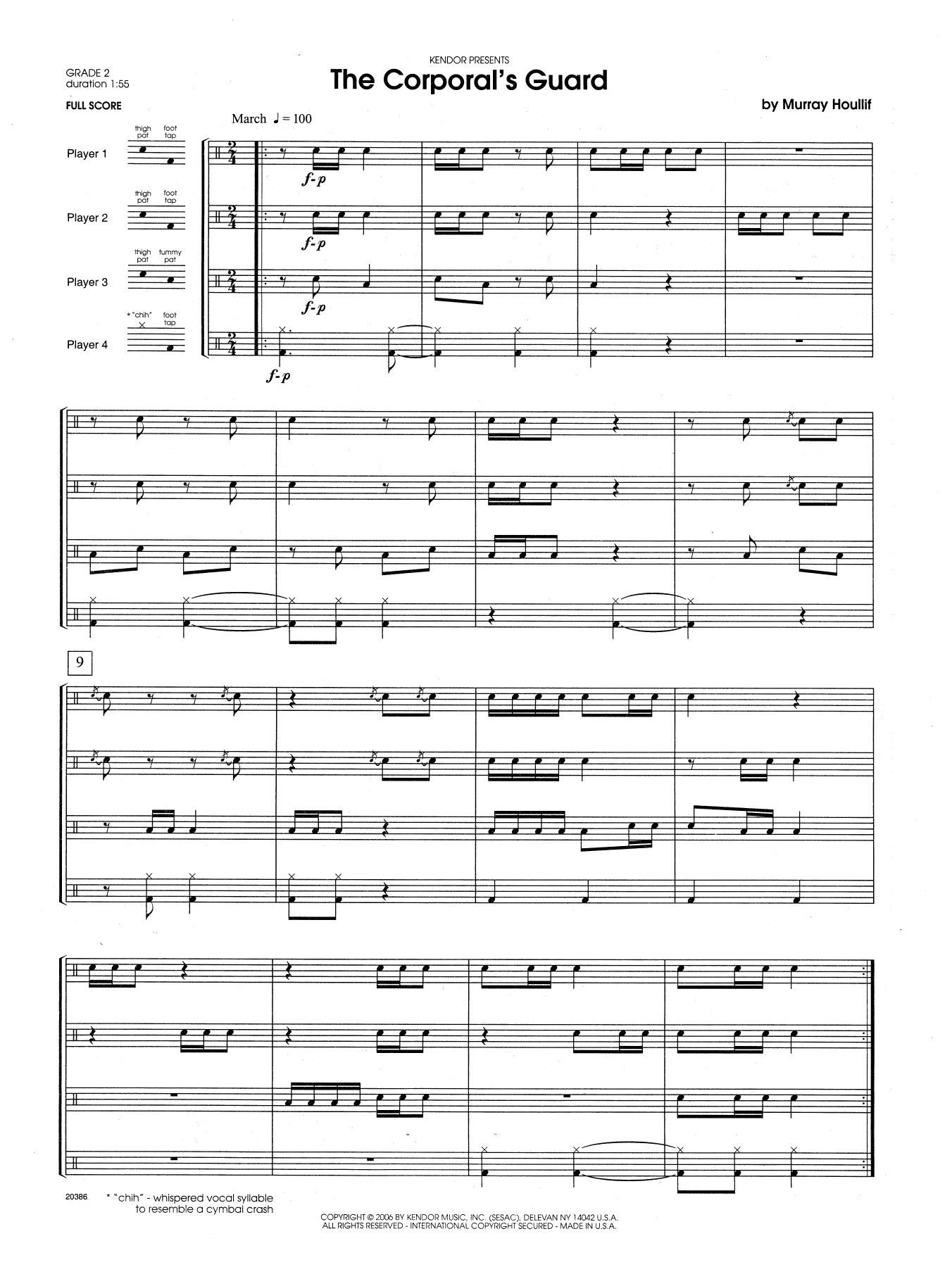 The Corporal's Guard (COMPLETE) sheet music for percussions by Houllif. Score Image Preview.