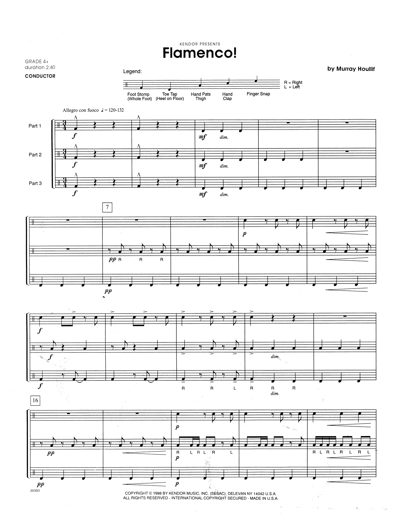 Flamenco! (COMPLETE) sheet music for percussions by Houllif. Score Image Preview.