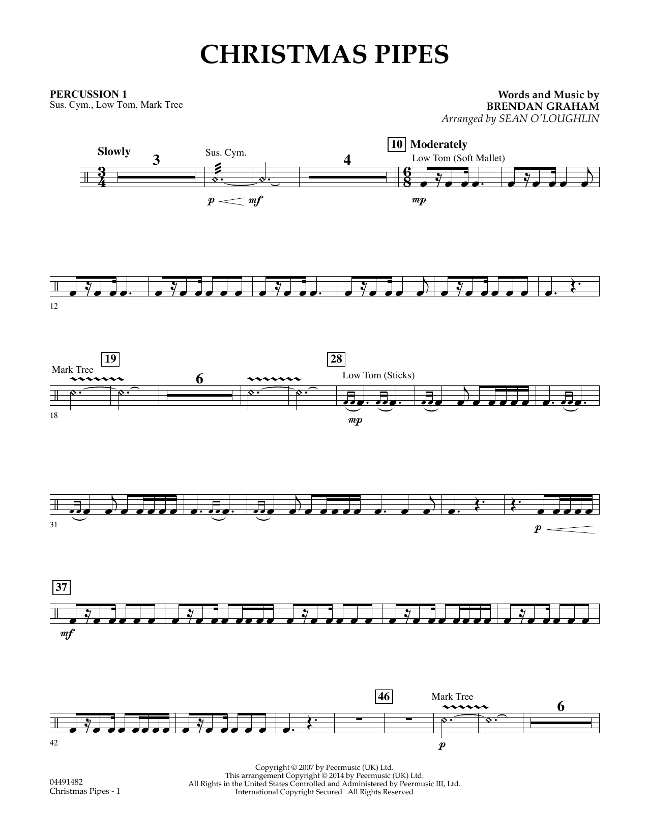 Christmas Pipes - Percussion 2 (Orchestra)