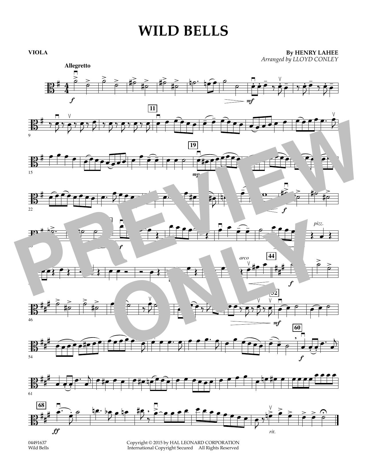 Wild Bells - Viola (Orchestra)