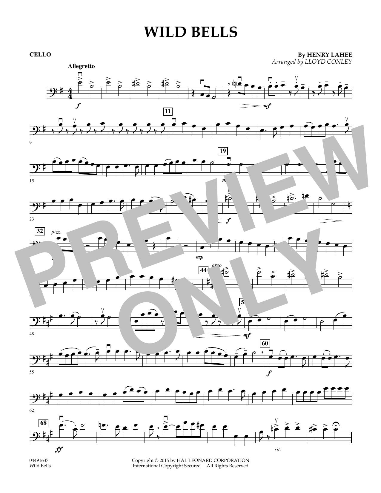 Wild Bells - Cello (Orchestra)