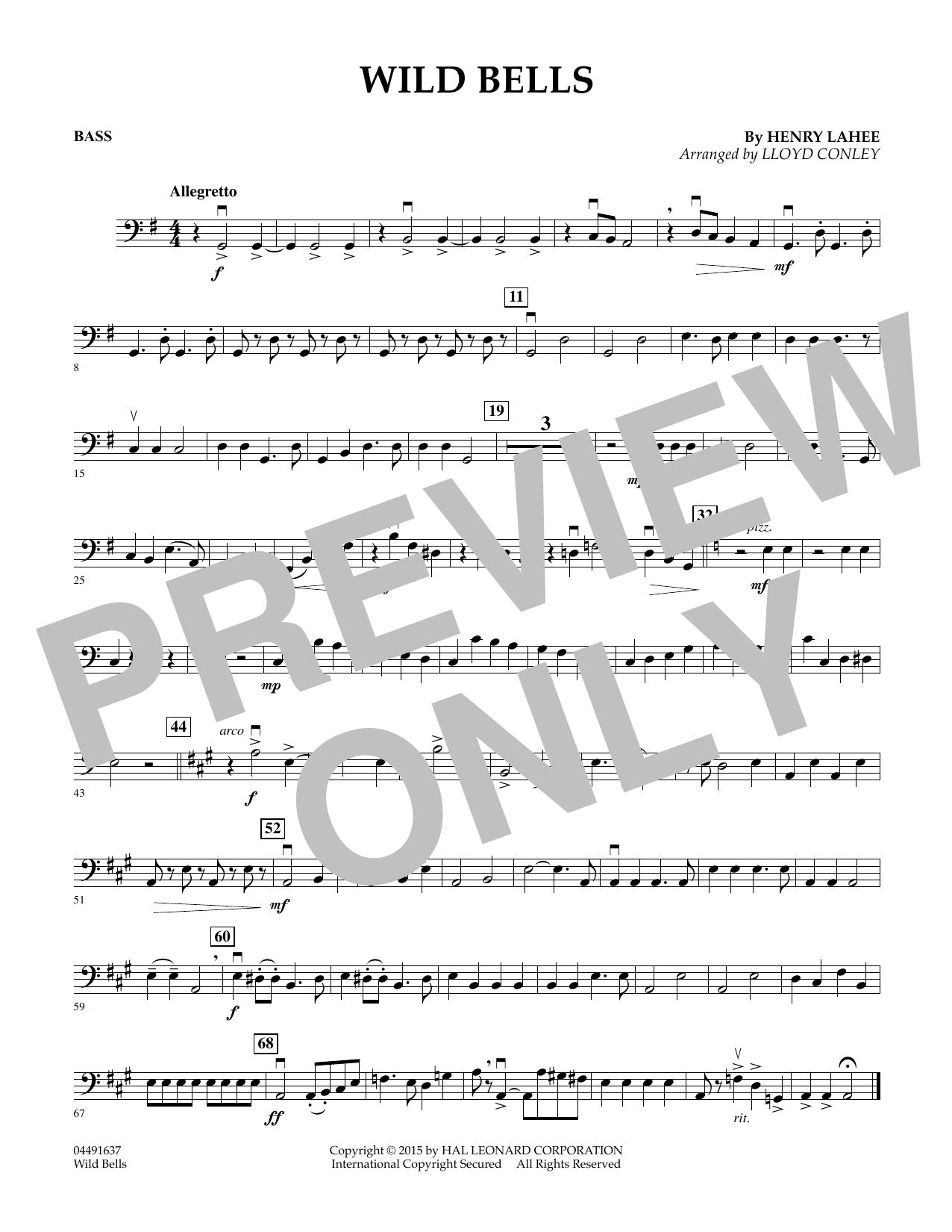 Wild Bells - Bass (Orchestra)