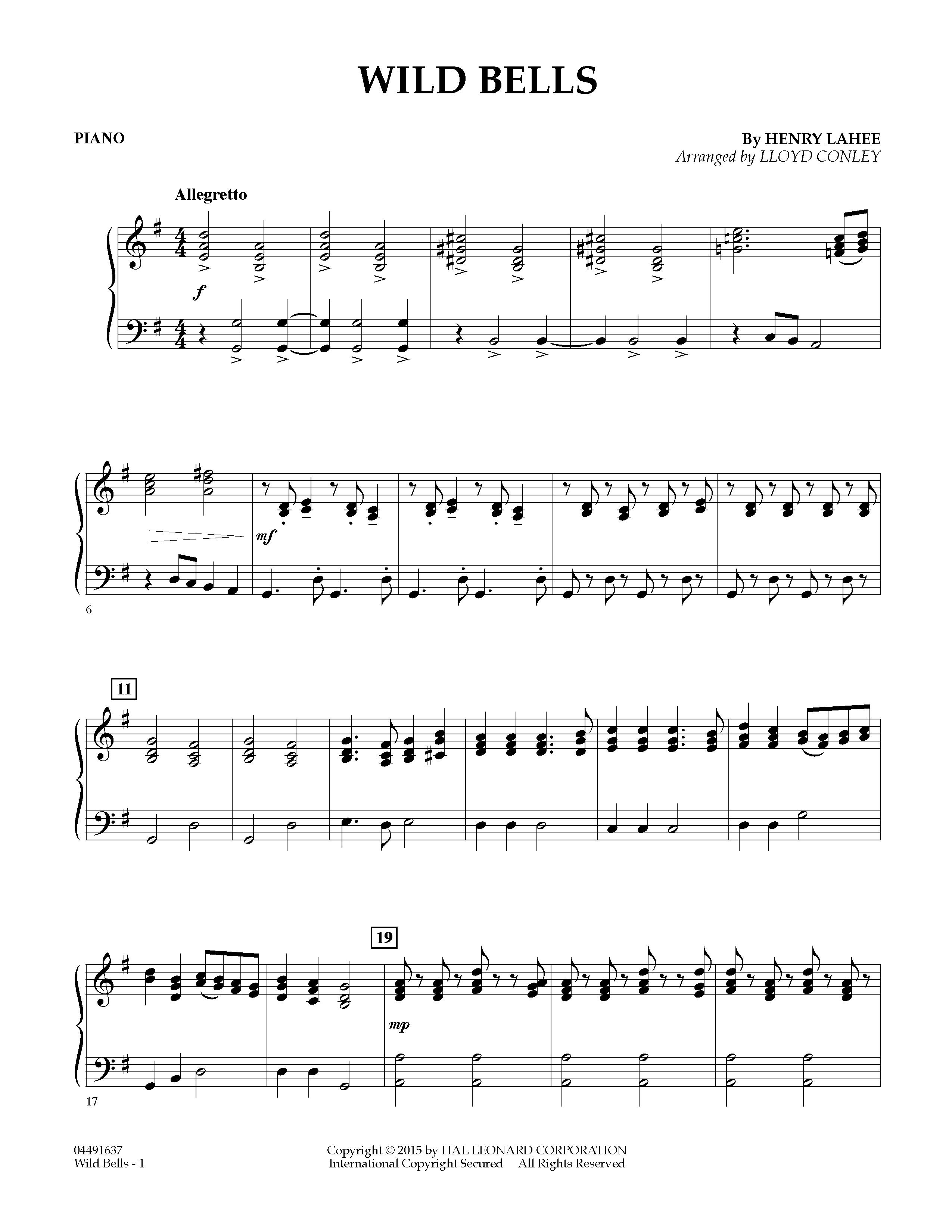 Wild Bells - Piano (Orchestra)