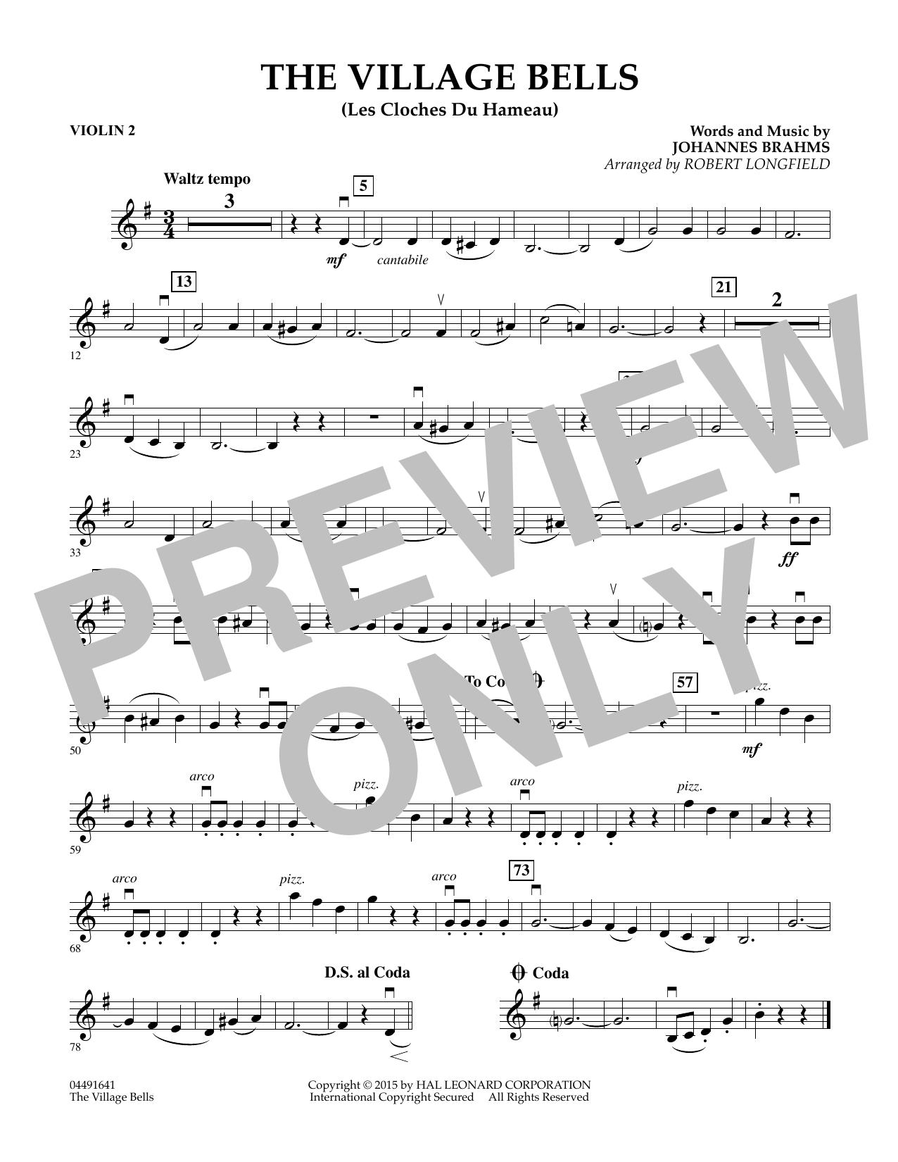 The Village Bells (Les Cloche du Hameau) - Violin 2 (Orchestra)
