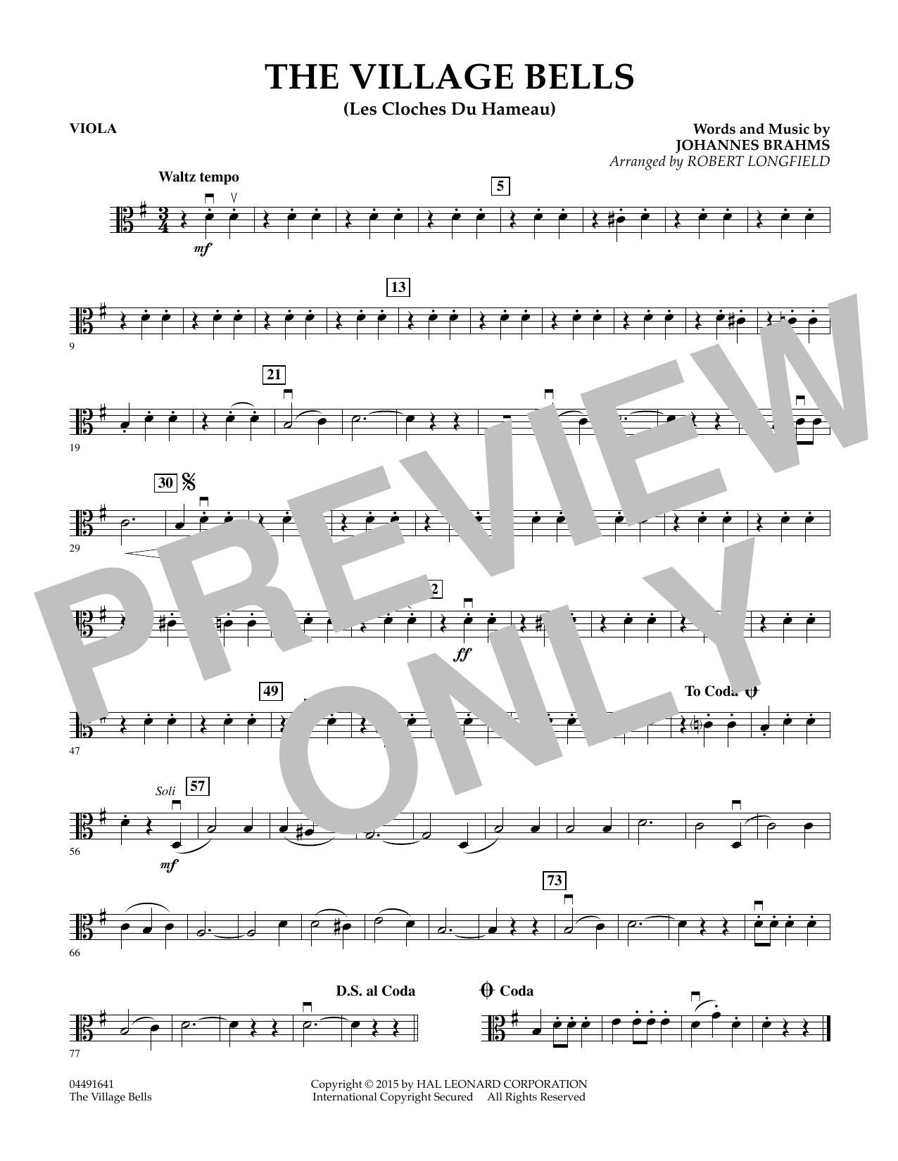 The Village Bells (Les Cloche du Hameau) - Viola (Orchestra)