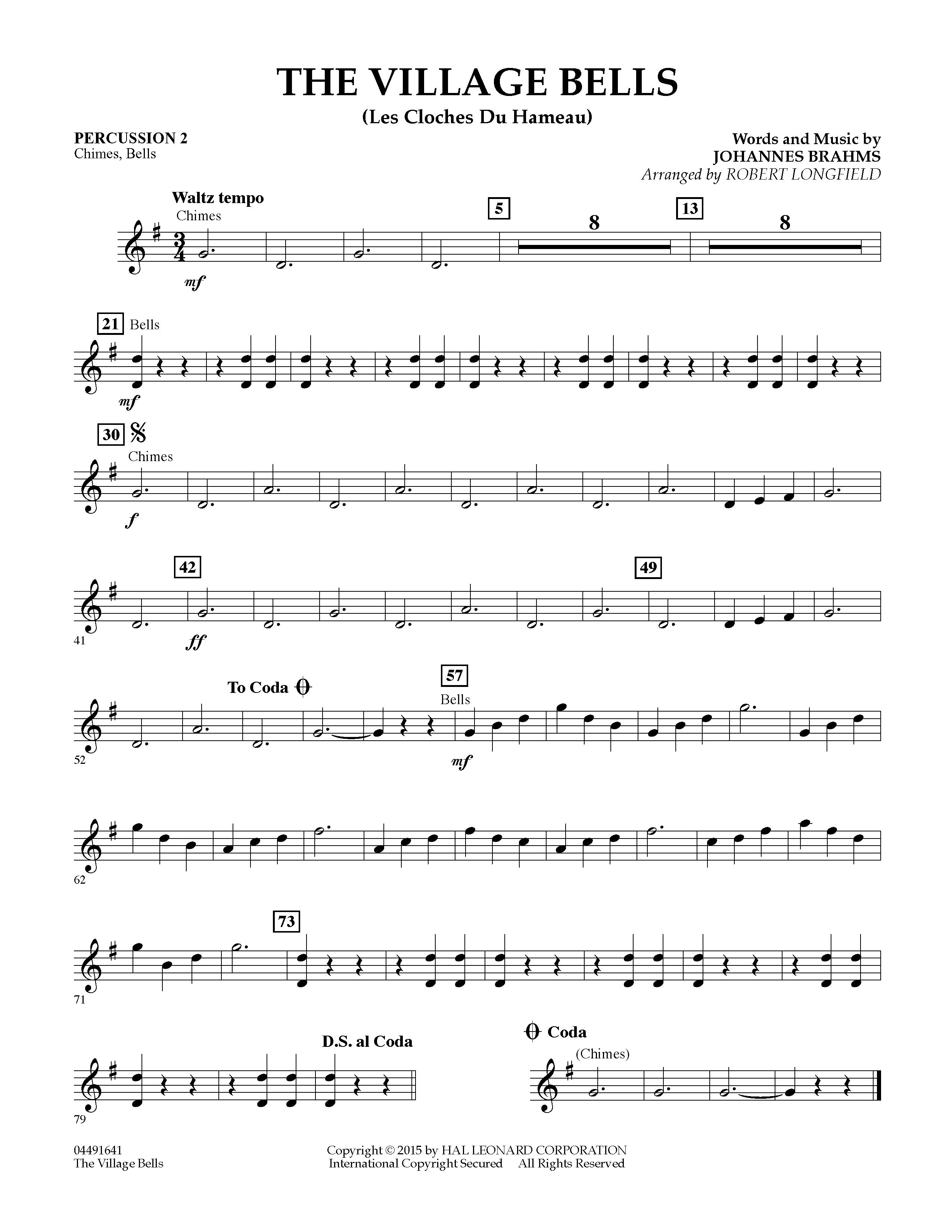 The Village Bells (Les Cloche du Hameau) - Percussion 2 (Orchestra)
