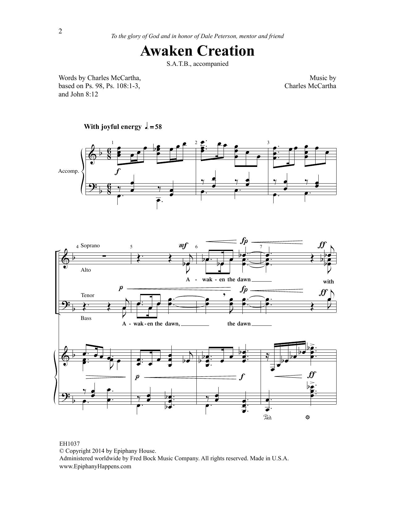 Awaken Creation Sheet Music