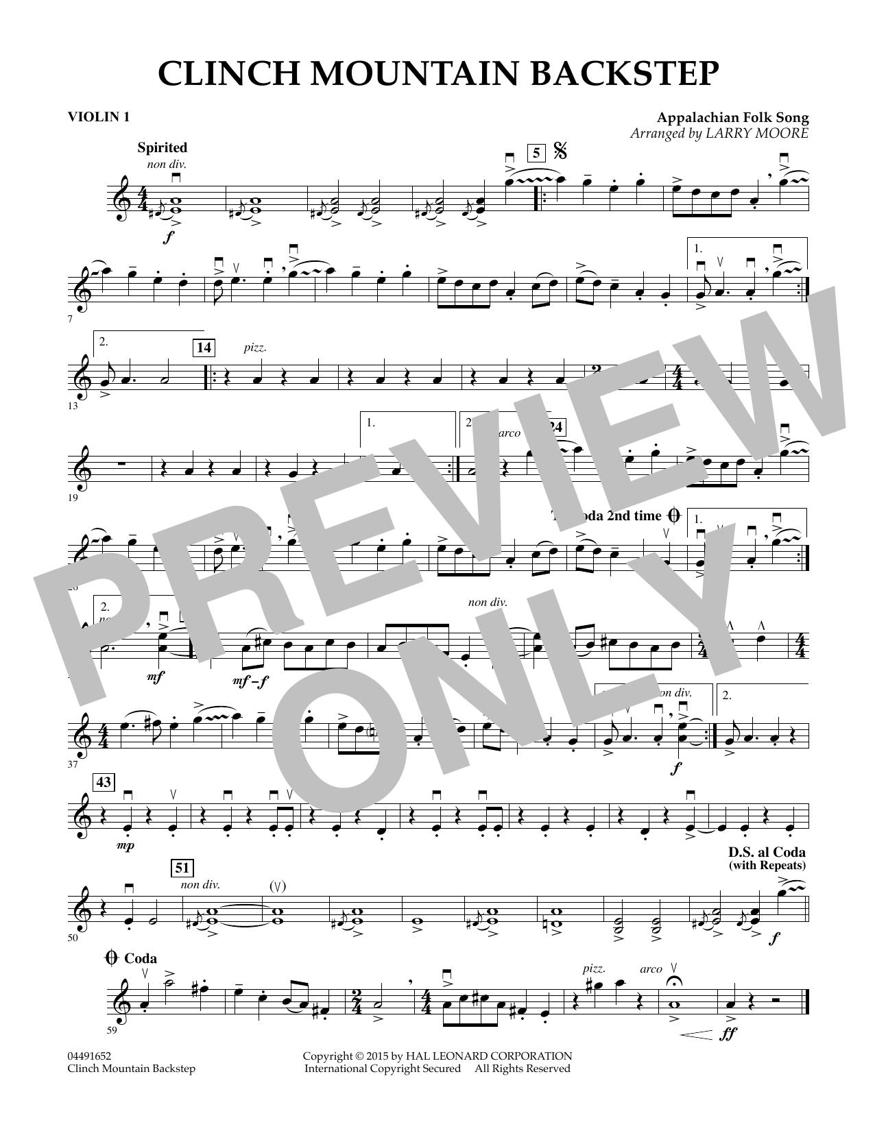 Clinch Mountain Backstep - Violin 1 (Orchestra)