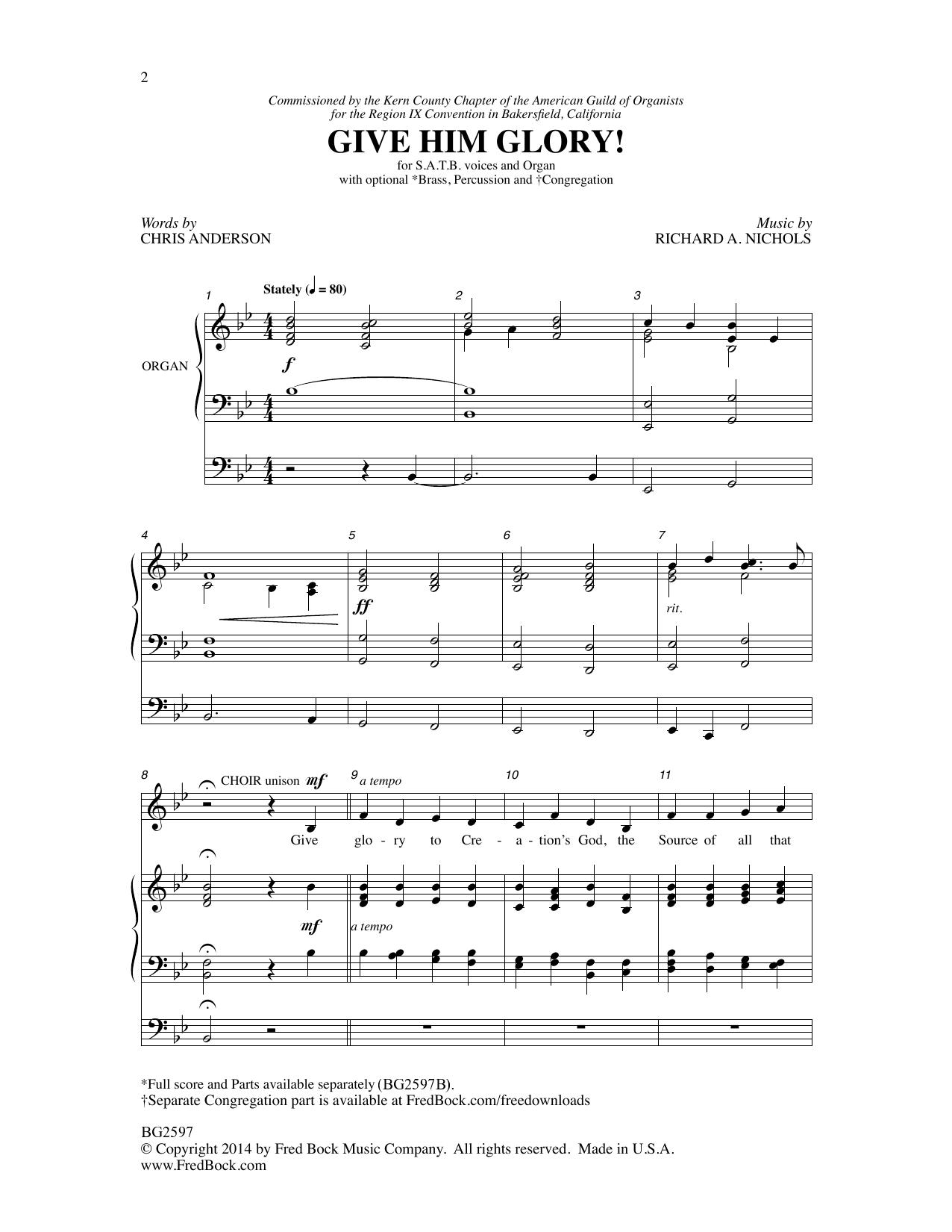 Give Him Glory! Sheet Music