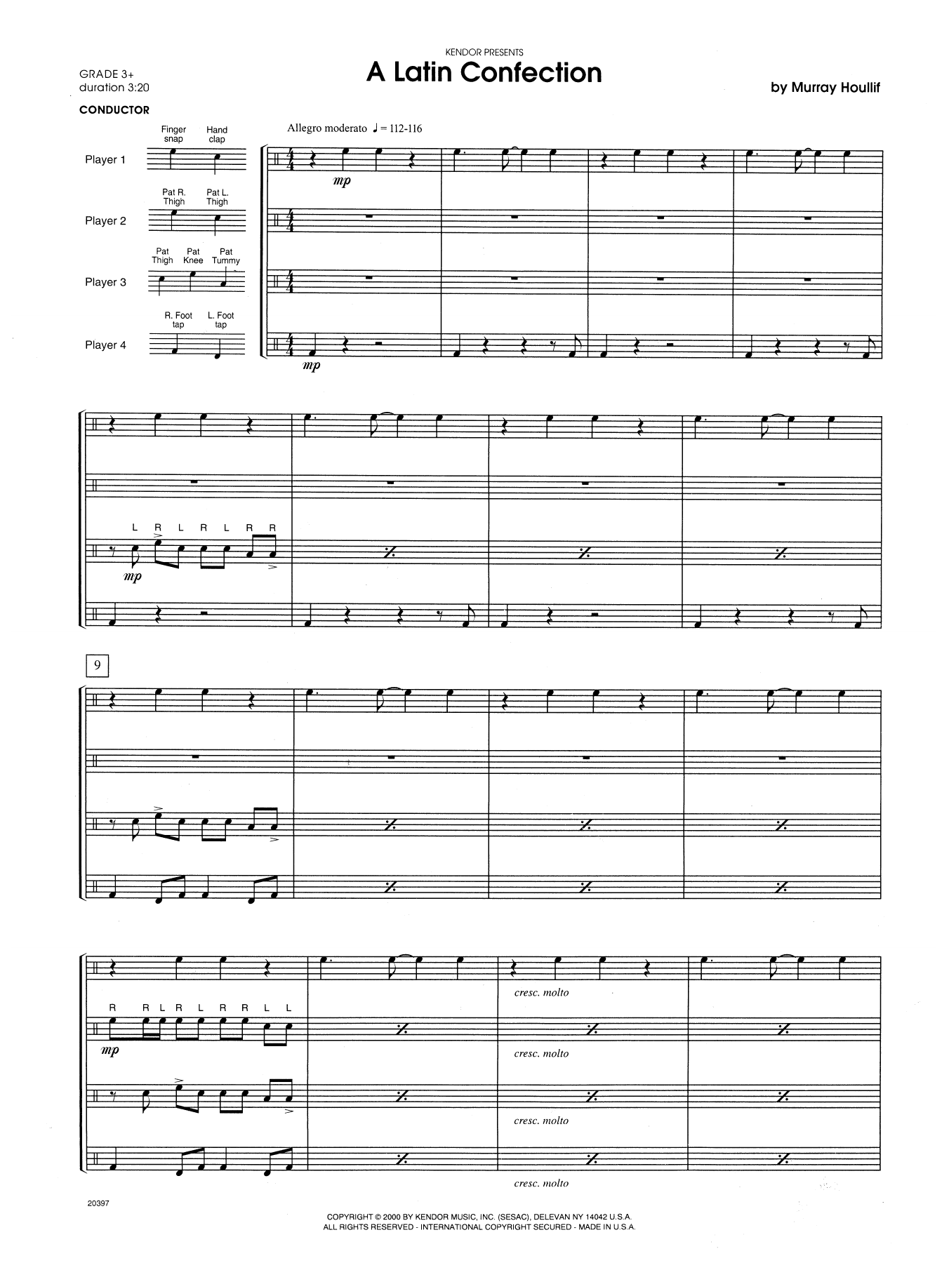 A Latin Confection (COMPLETE) sheet music for percussions by Houllif. Score Image Preview.
