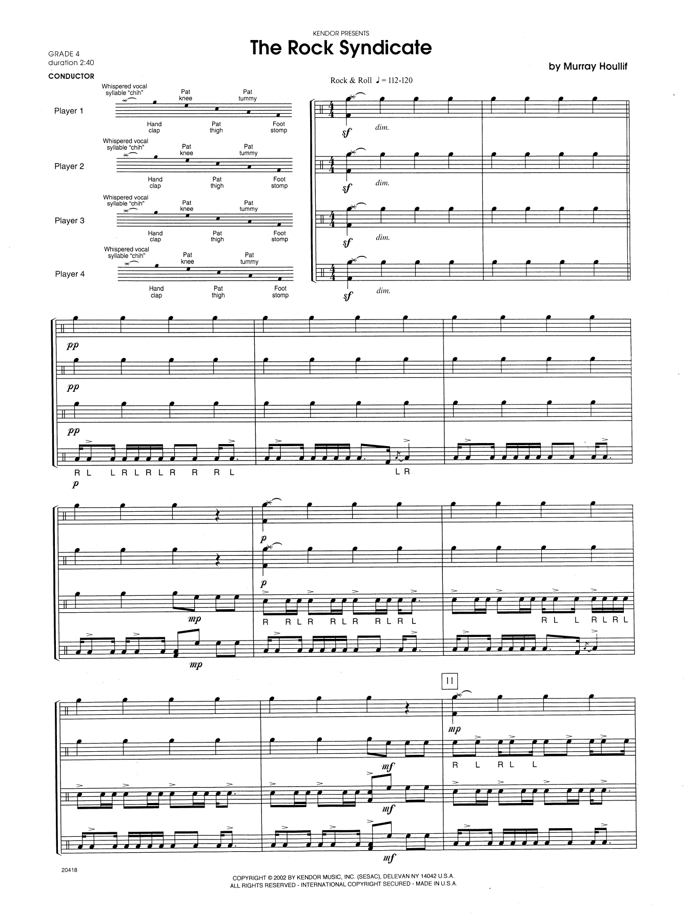 The Rock Syndicate (COMPLETE) sheet music for percussions by Houllif. Score Image Preview.