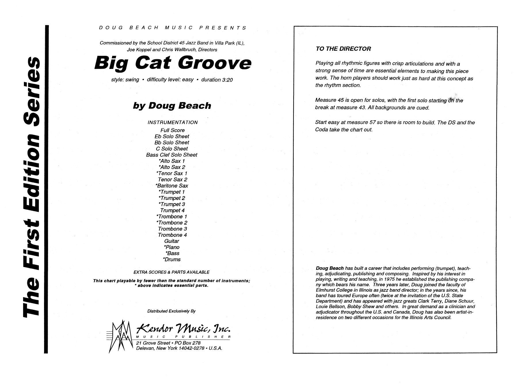 Big Cat Groove - Band Music Download