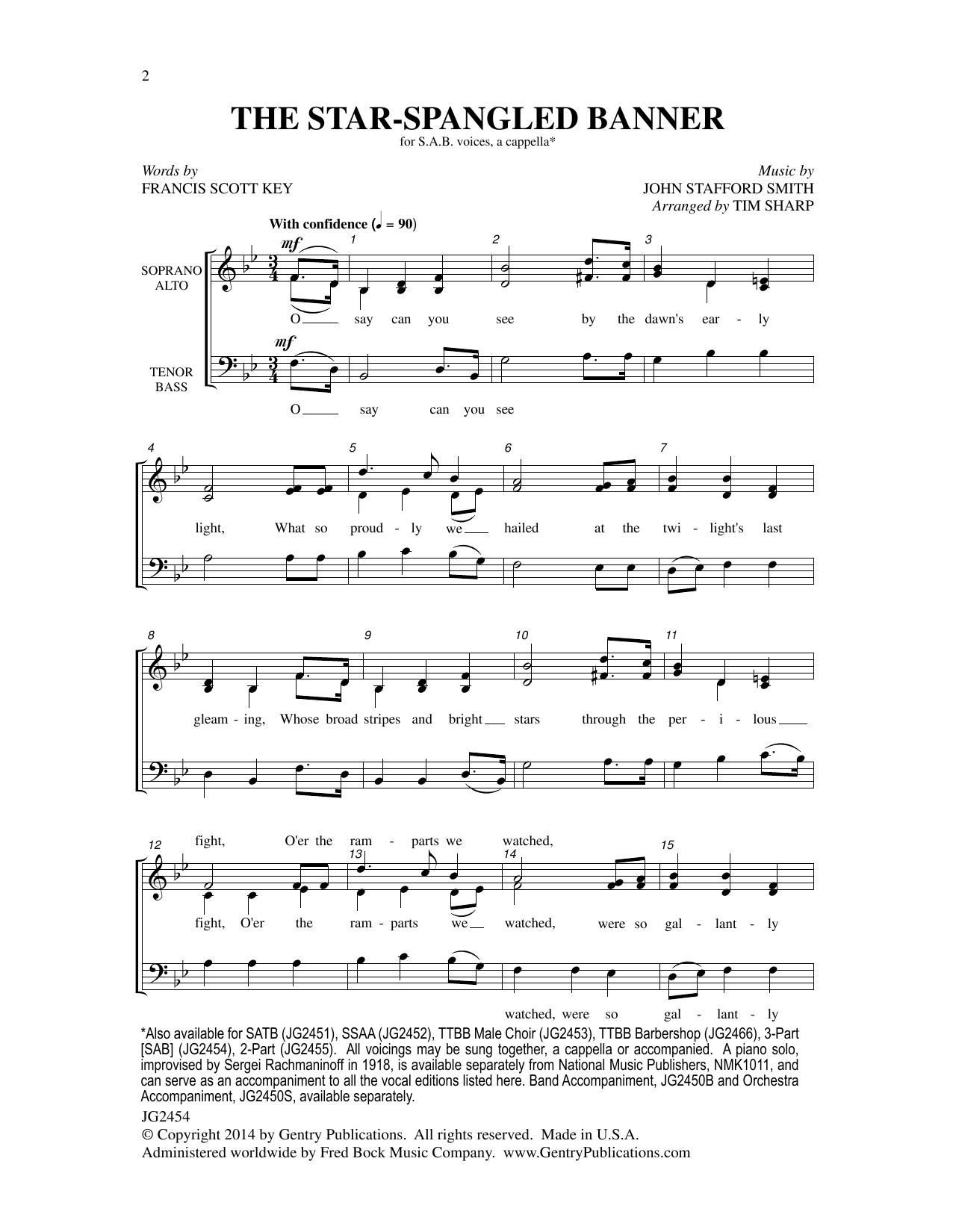 The Star-Spangled Banner Sheet Music