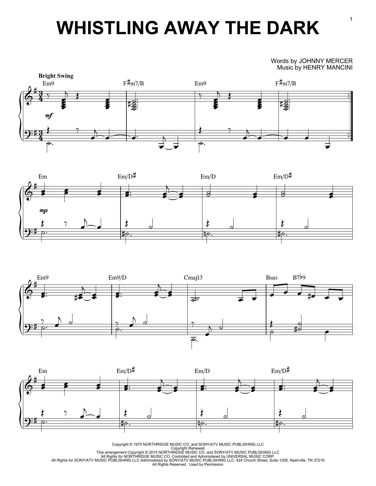 Whistling Away The Dark Sheet Music