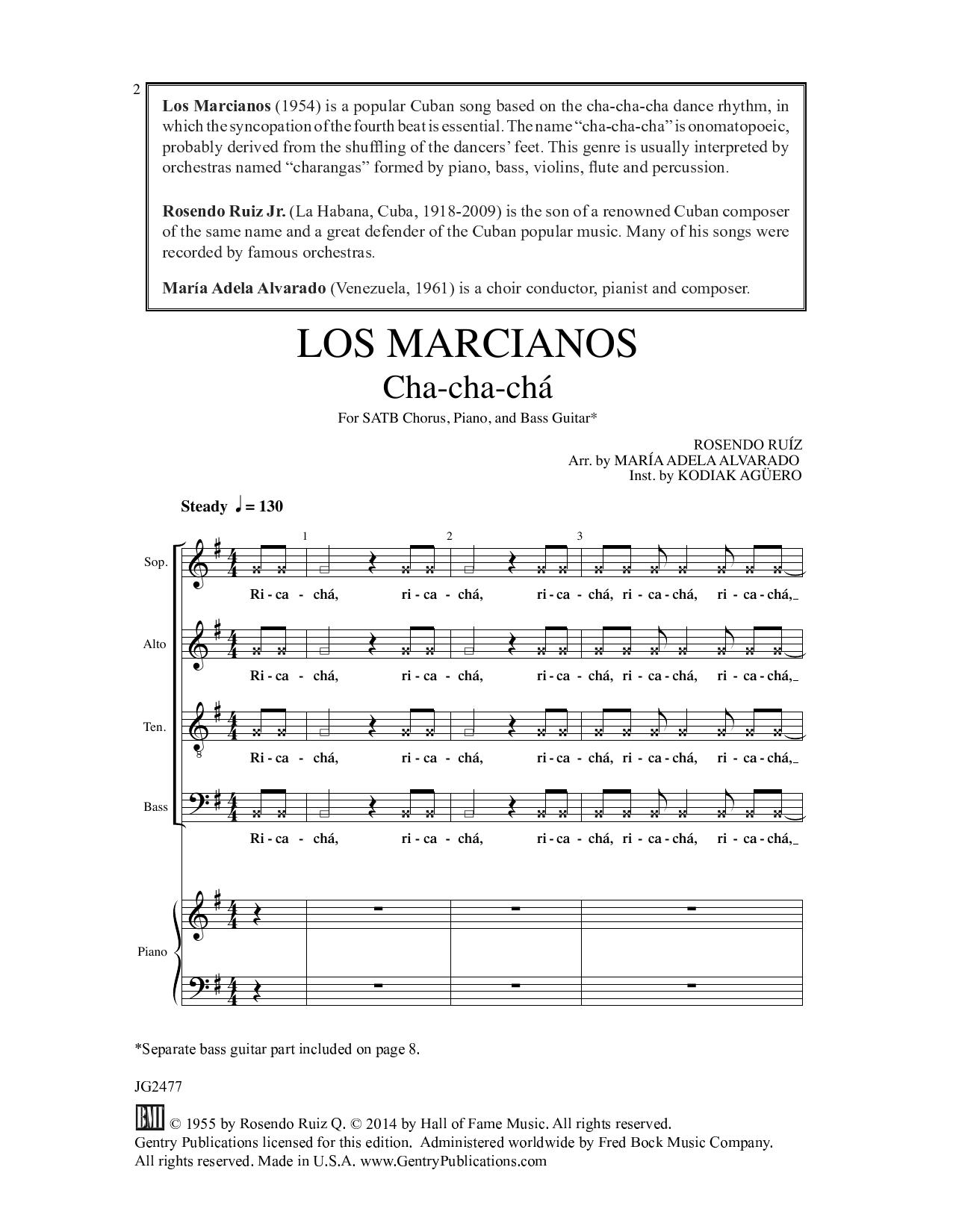 Los Marcianos Sheet Music