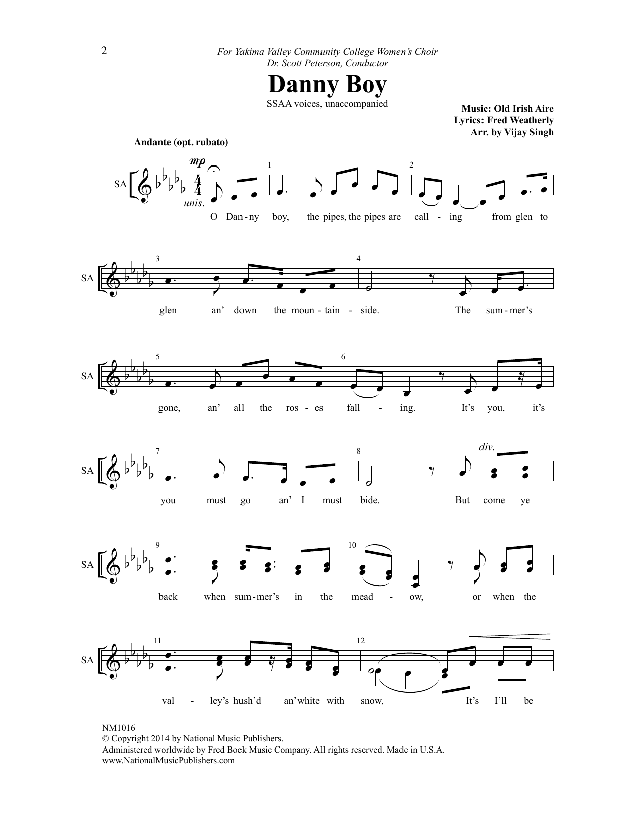 Danny Boy Sheet Music