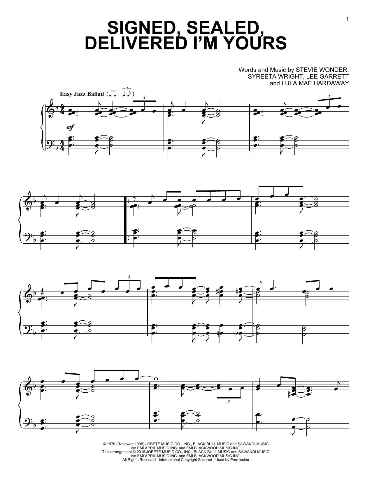 you and i stevie wonder sheet music pdf