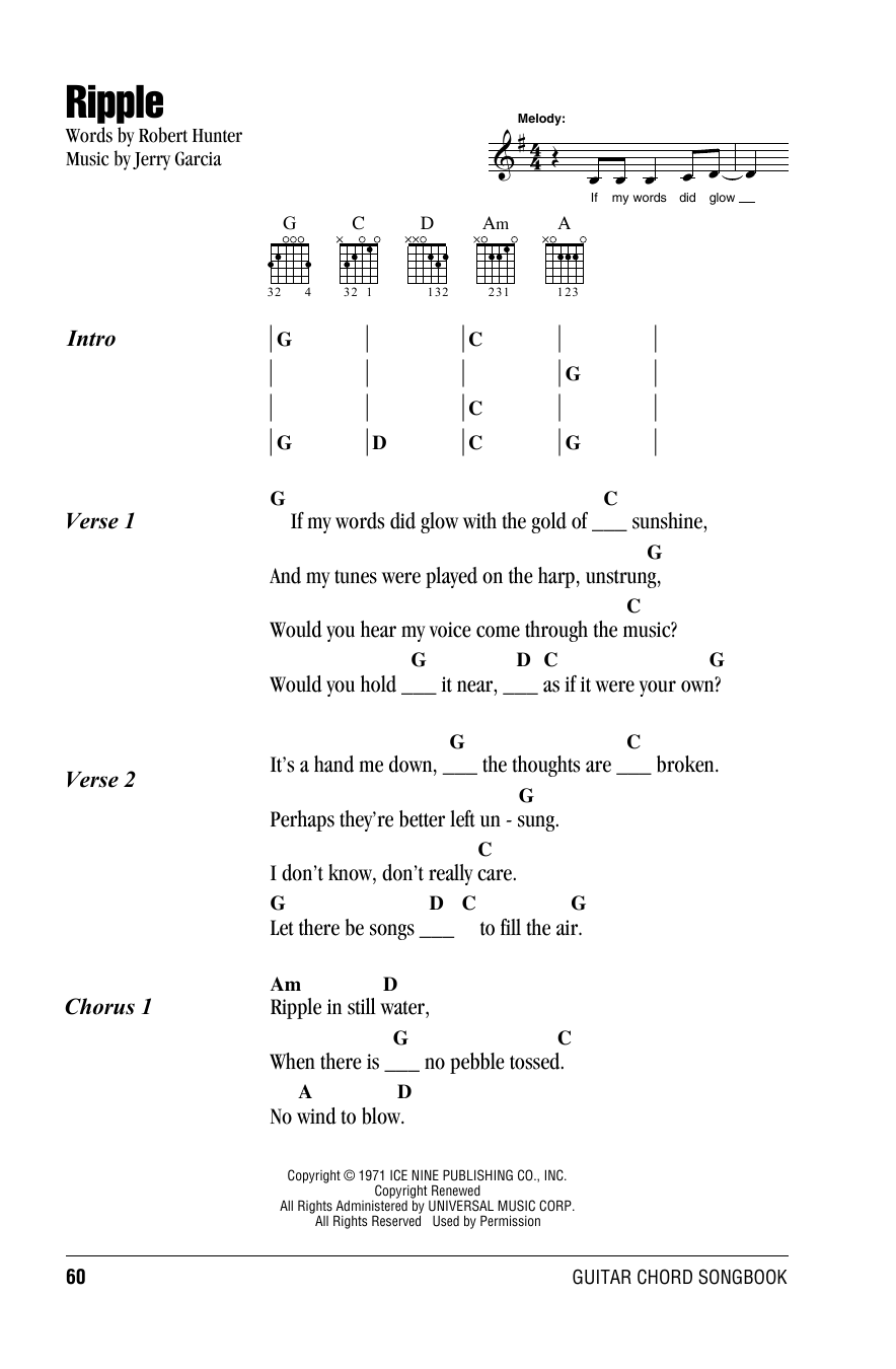 Ripple Sheet Music