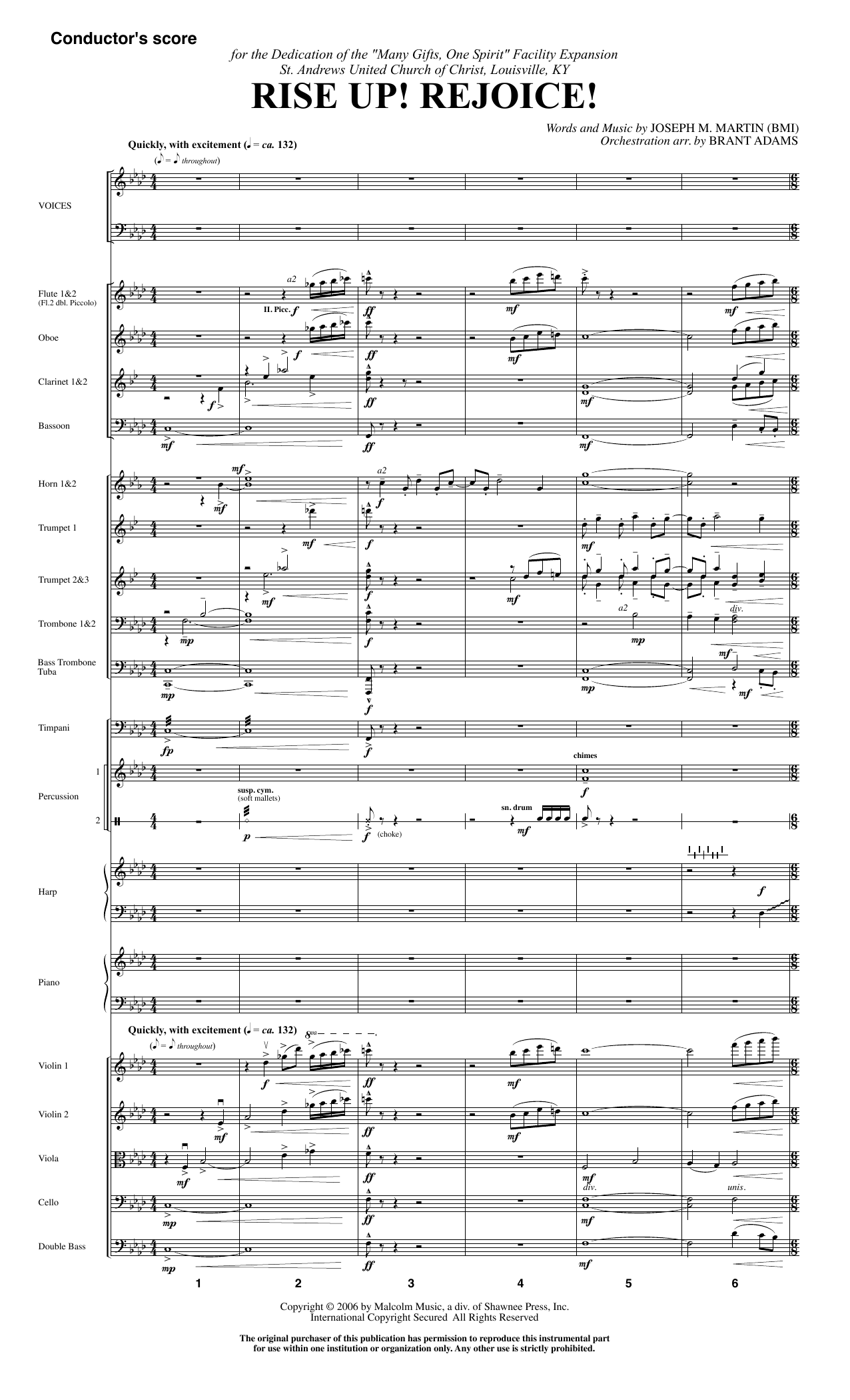 Rise Up! Rejoice! (from Footprints In The Sand) (COMPLETE) sheet music for orchestra/band by Joseph Martin and Joseph M. Martin. Score Image Preview.