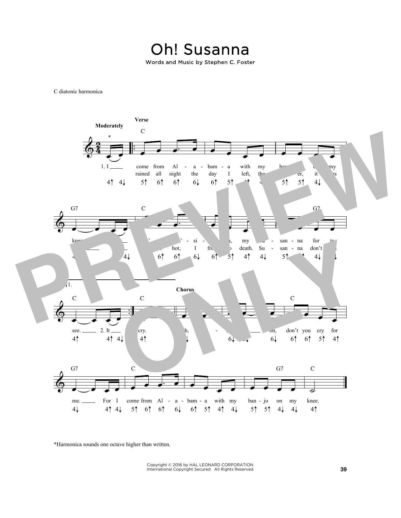 Oh! Susanna Sheet Music