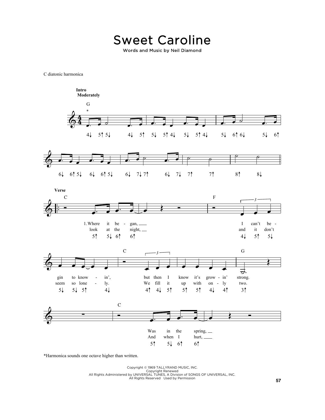Sweet Caroline Sheet Music