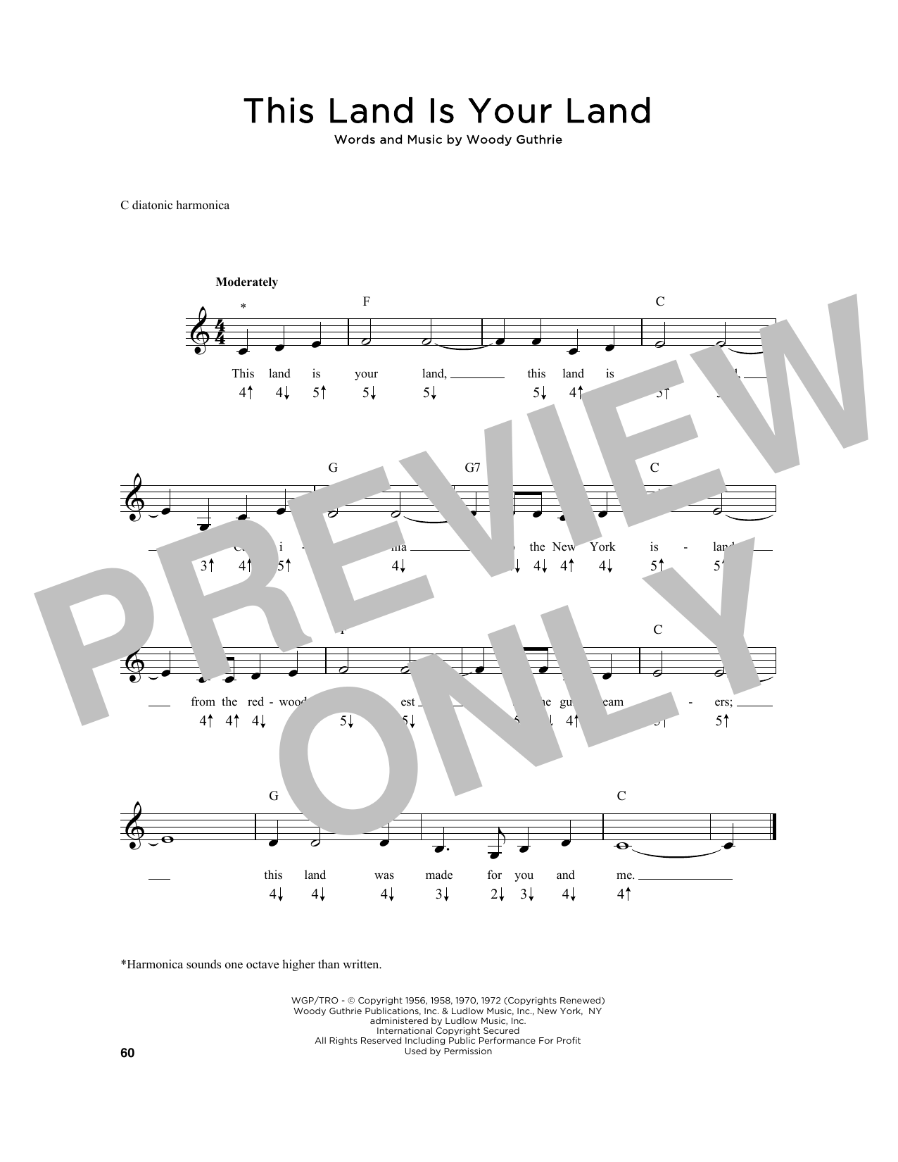 This Land Is Your Land Sheet Music