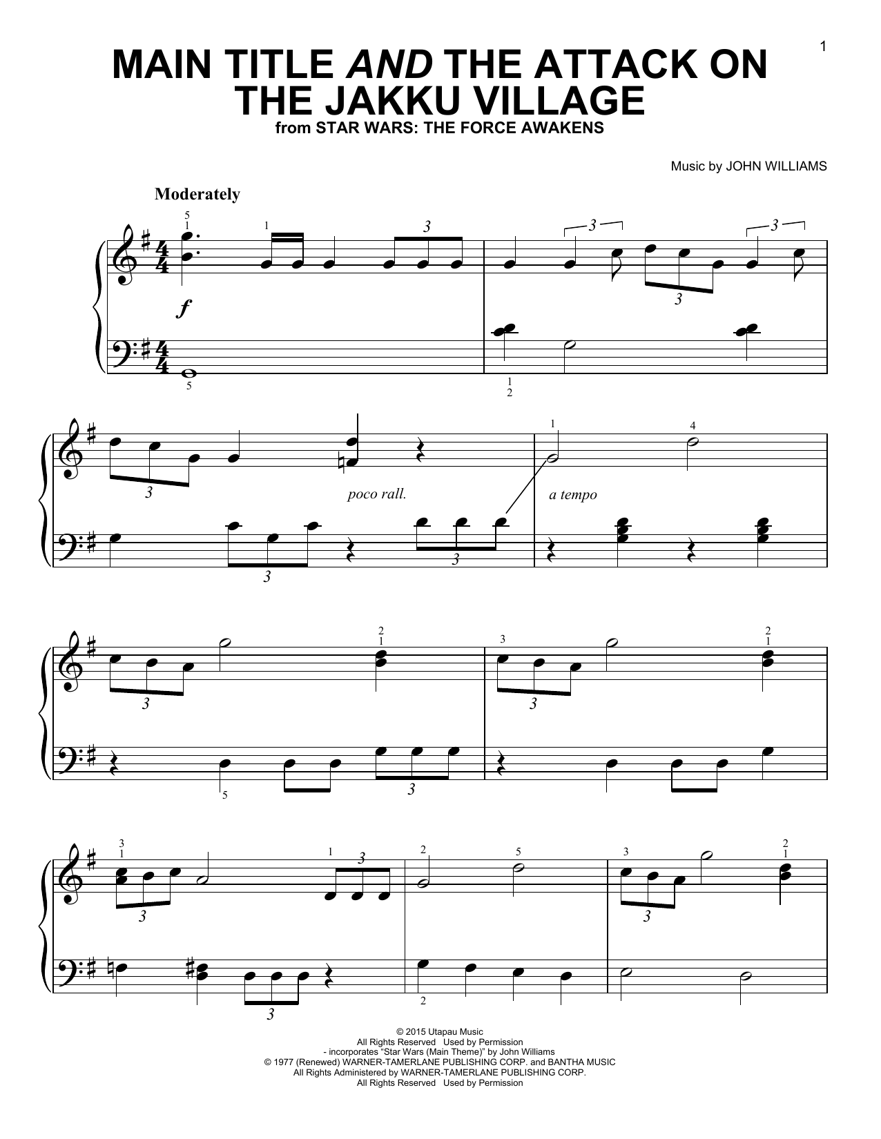 Main Title And The Attack On The Jakku Village Sheet Music