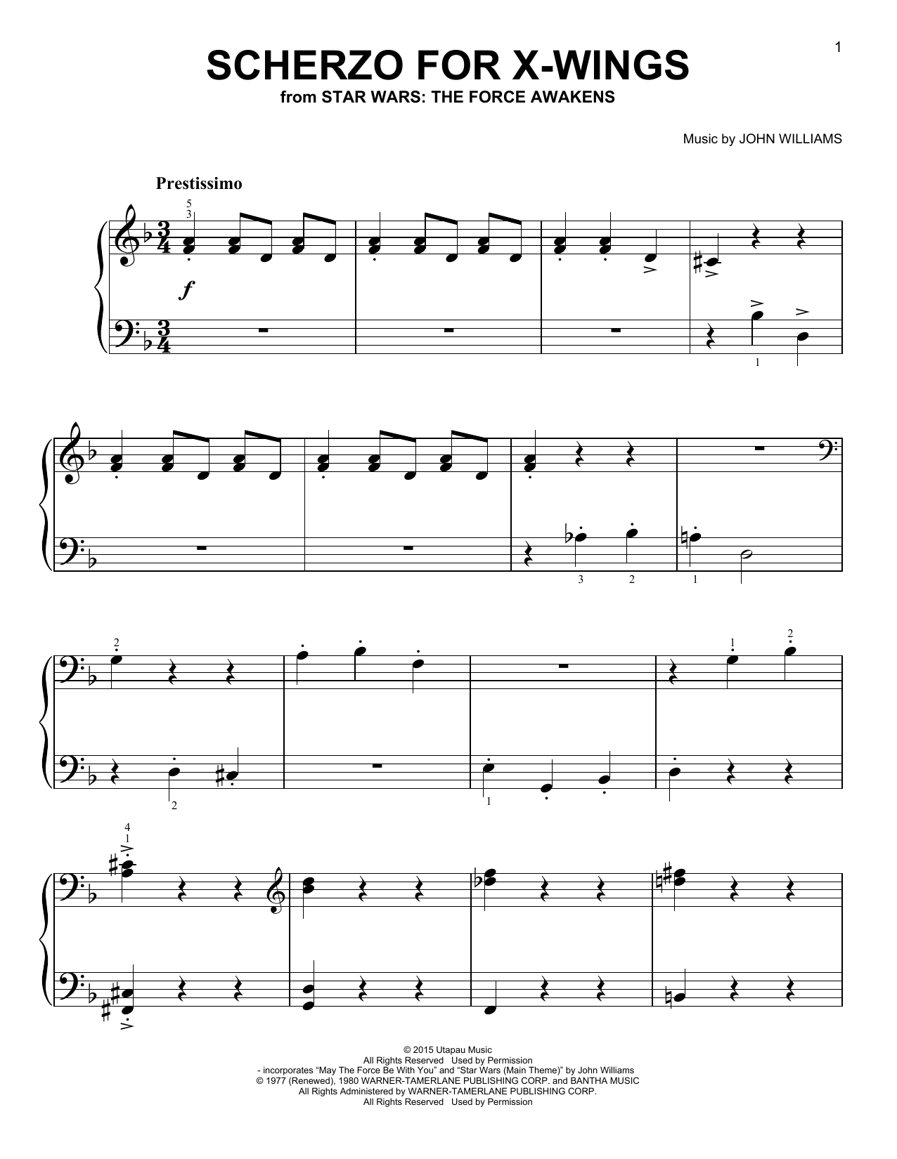 Scherzo For X-Wings Sheet Music