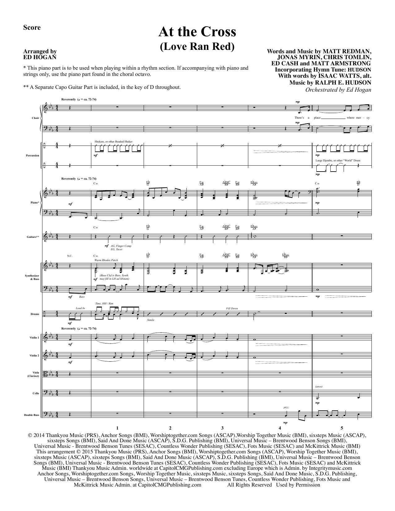 At the Cross (COMPLETE) sheet music for orchestra/band by Isaac Watts and Ed Hogan. Score Image Preview.
