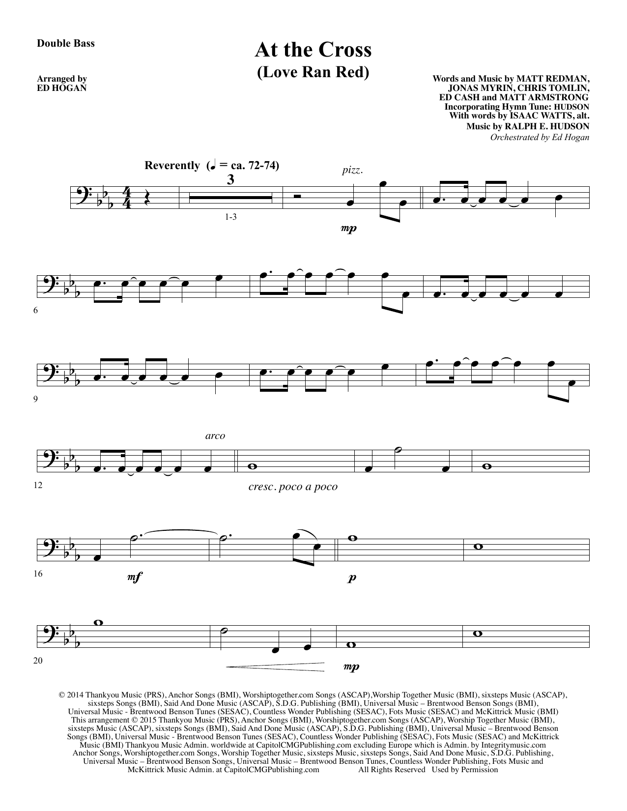 At the Cross - Double Bass Sheet Music