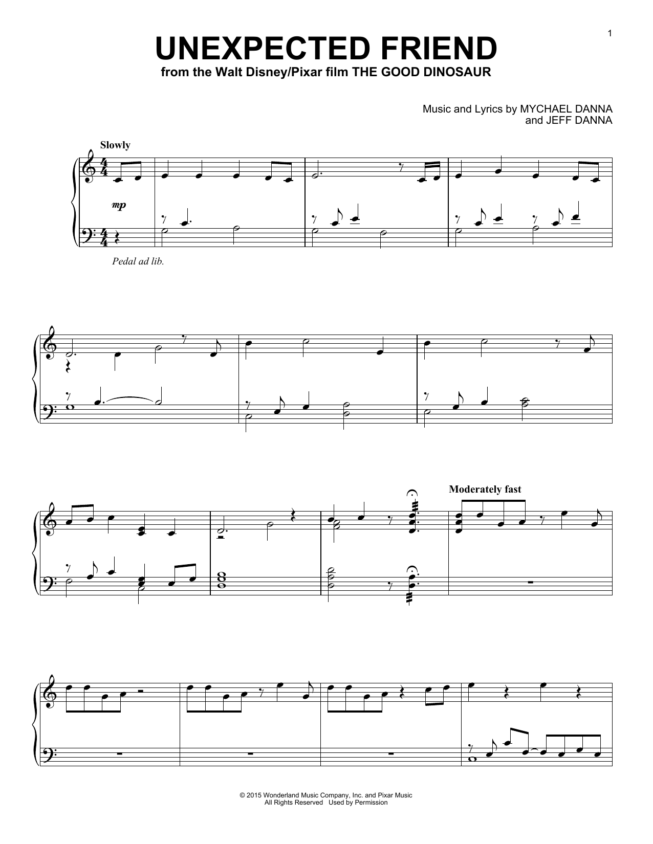 Unexpected Friend Sheet Music