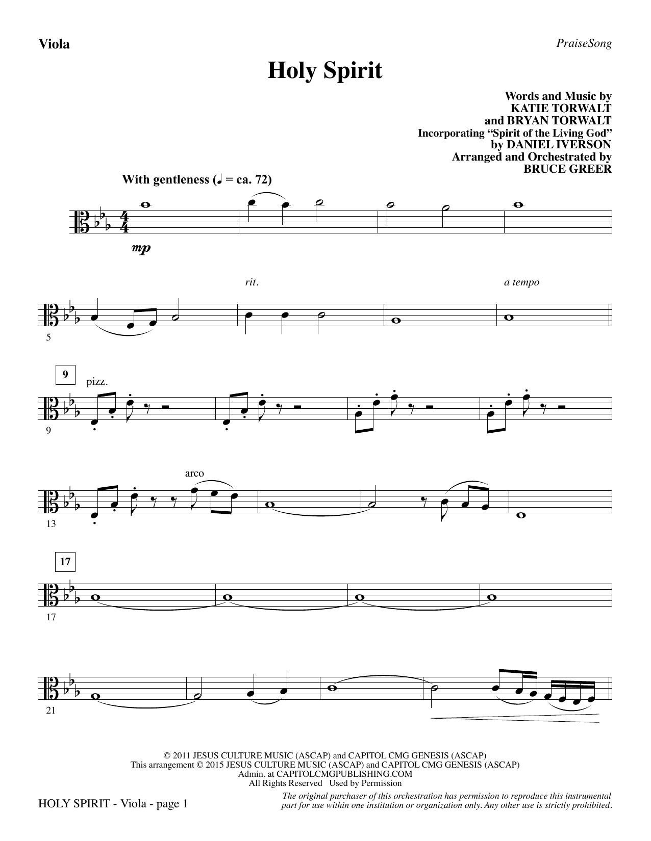 Holy Spirit - Viola Sheet Music