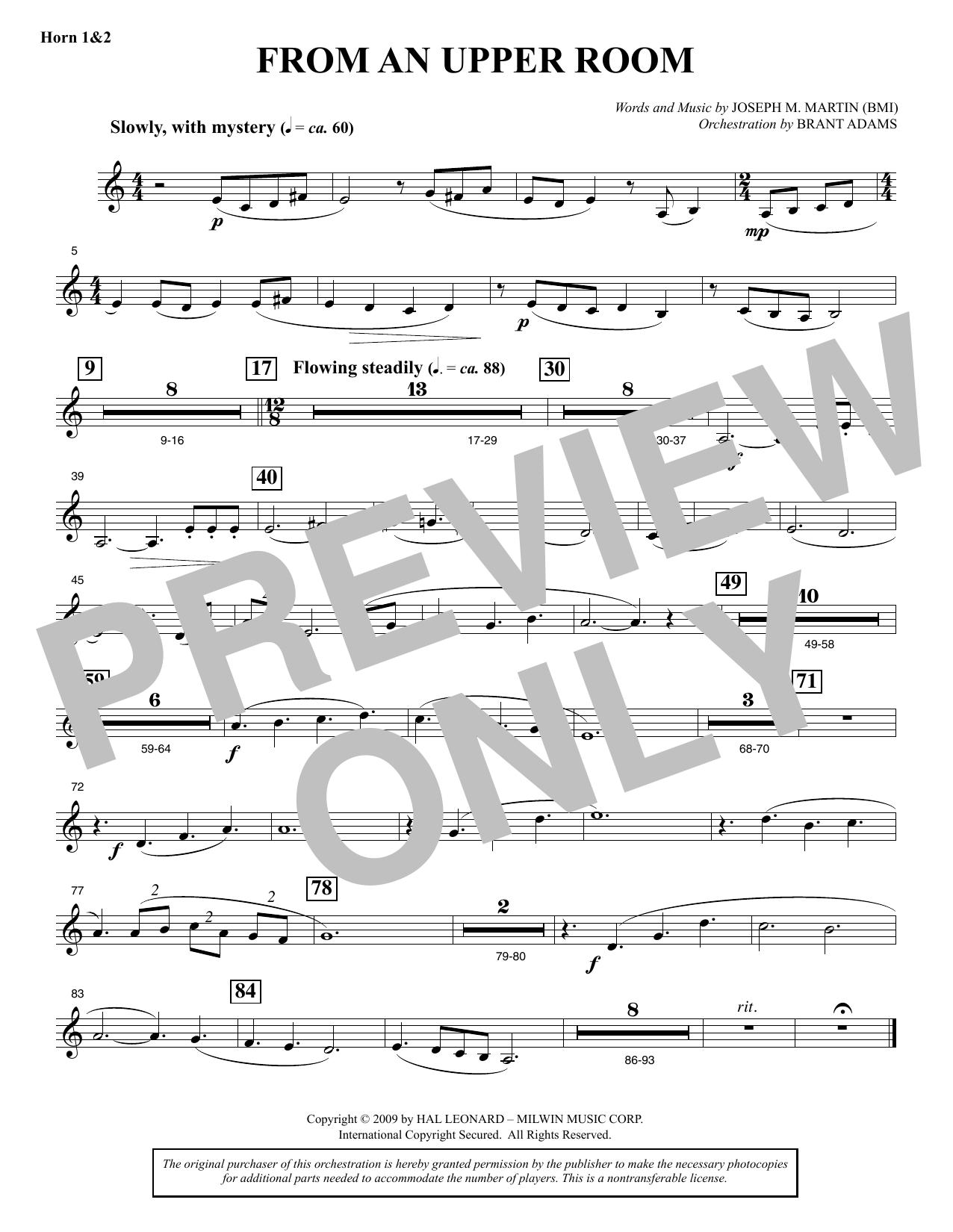 From An Upper Room (from Lenten Sketches) - F Horn 1 & 2 (Choir Instrumental Pak)
