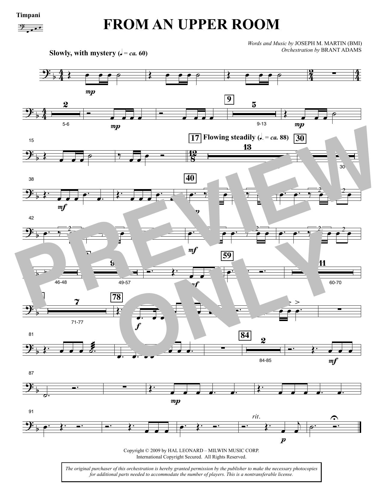 From An Upper Room (from Lenten Sketches) - Timpani (Choir Instrumental Pak)