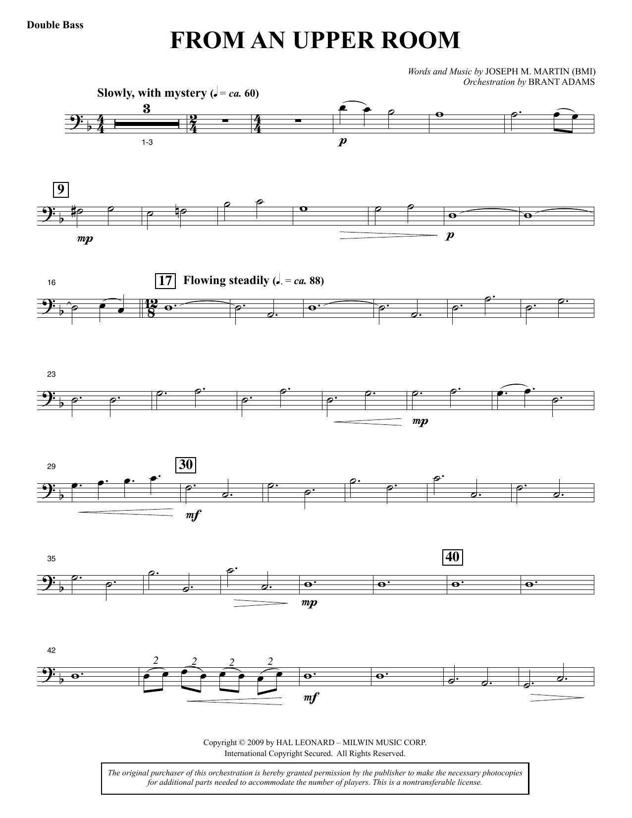 From An Upper Room (from Lenten Sketches) - Double Bass (Choir Instrumental Pak)