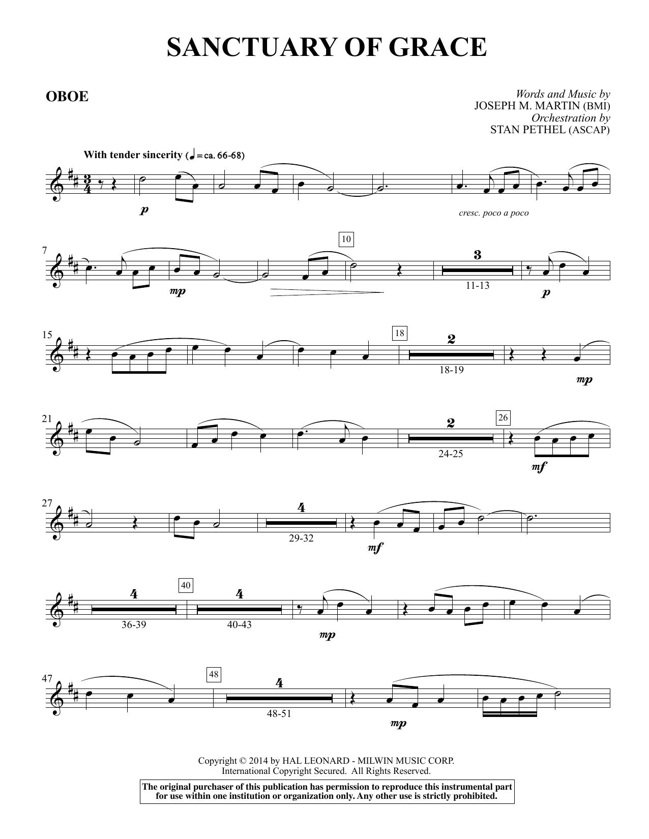 Sanctuary Of Grace (from Sanctuary) - Oboe (Choir Instrumental Pak)
