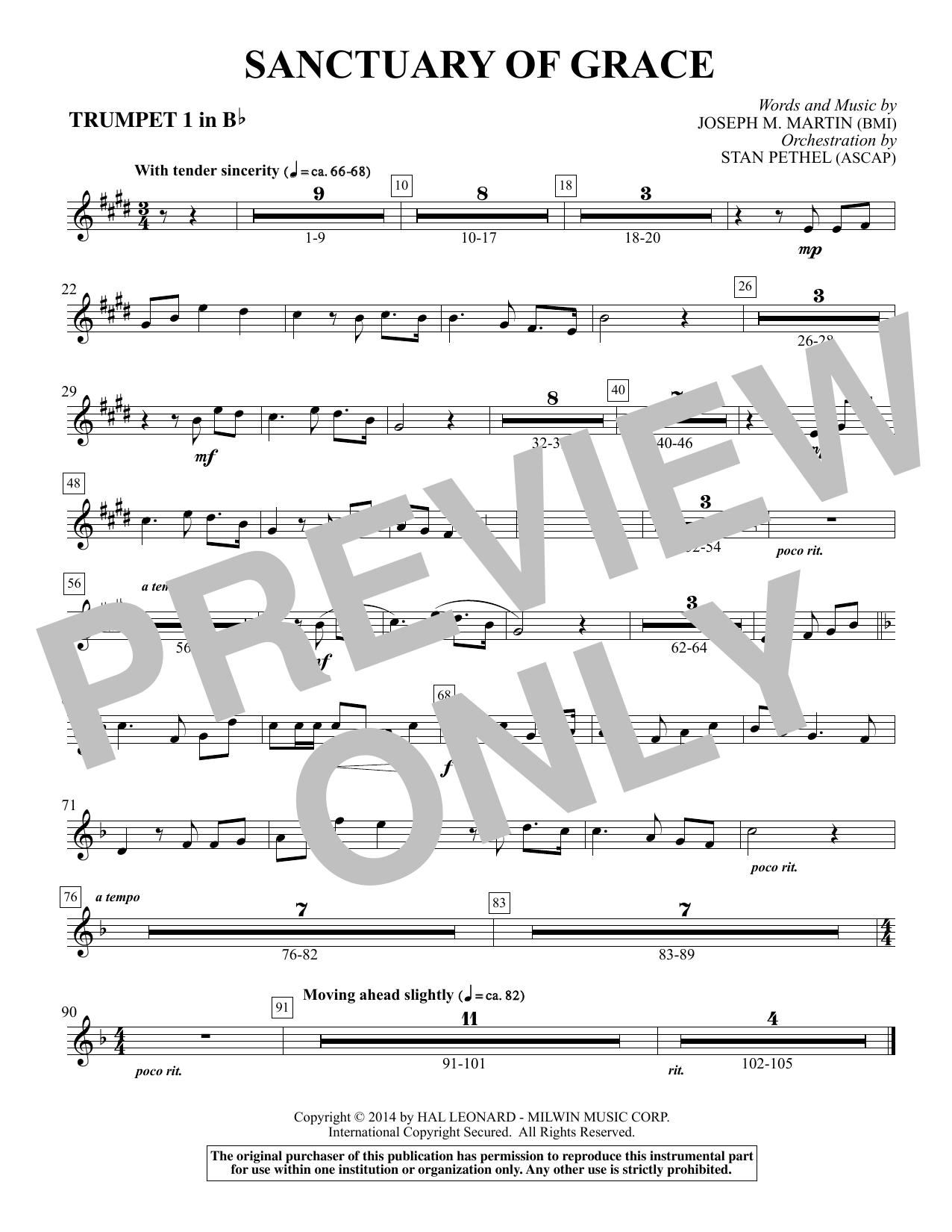 Sanctuary Of Grace (from Sanctuary) - Bb Trumpet 1 (Choir Instrumental Pak)