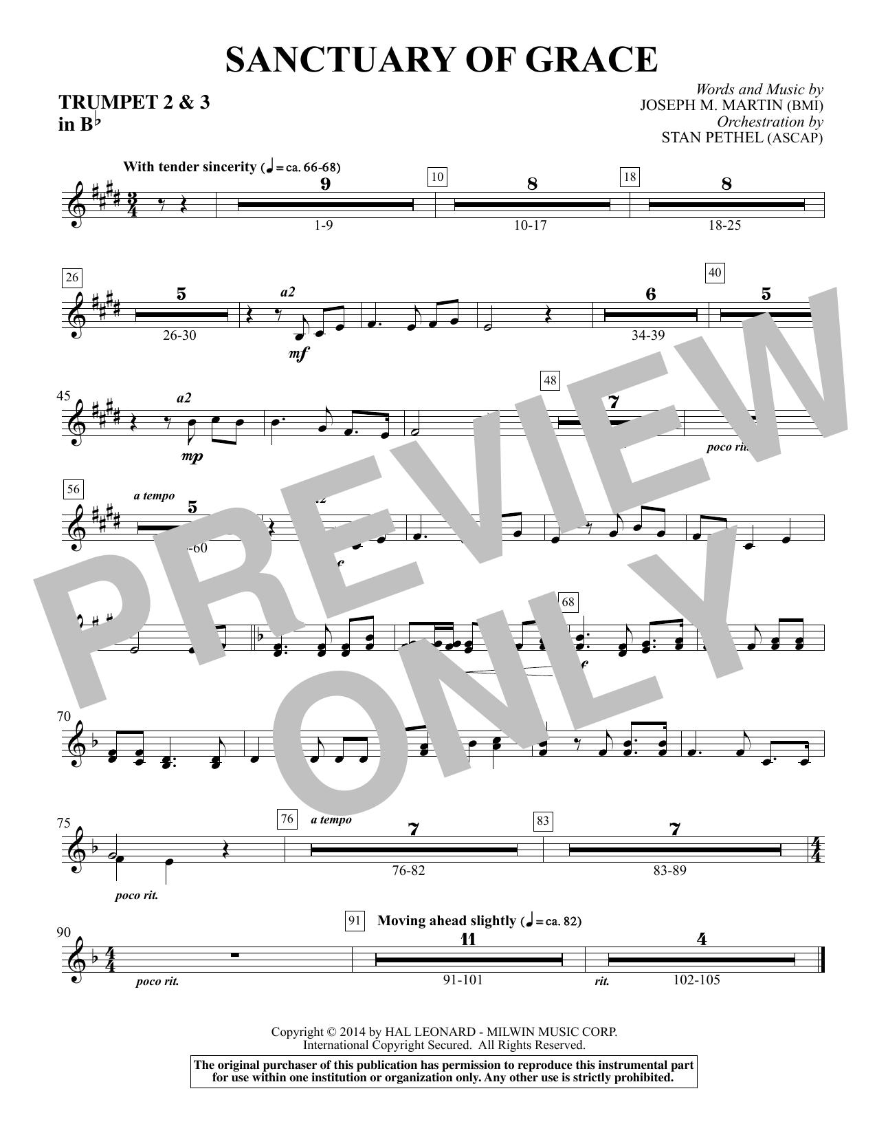 Sanctuary Of Grace (from Sanctuary) - Bb Trumpet 2,3 (Choir Instrumental Pak)