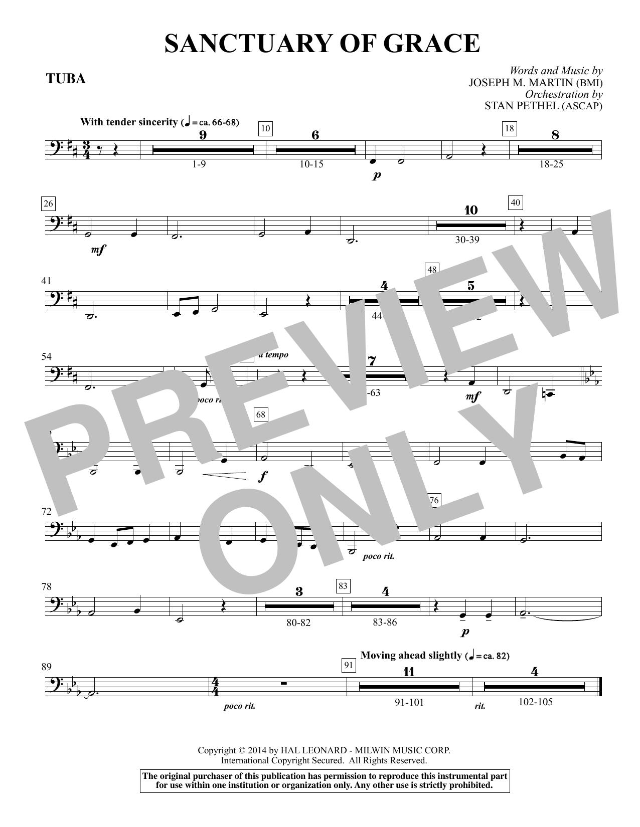Sanctuary Of Grace (from Sanctuary) - Tuba (Choir Instrumental Pak)