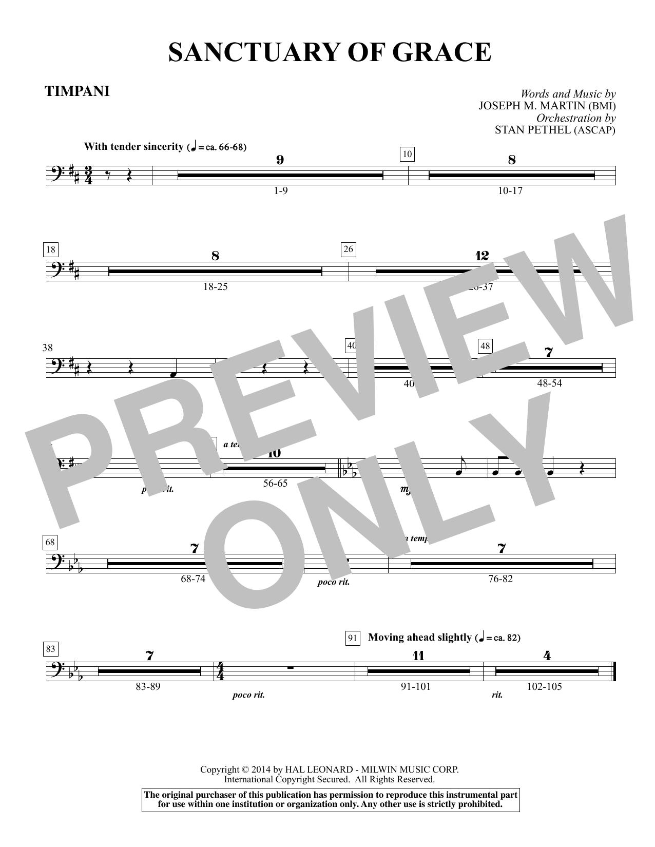 Sanctuary Of Grace (from Sanctuary) - Timpani (Choir Instrumental Pak)