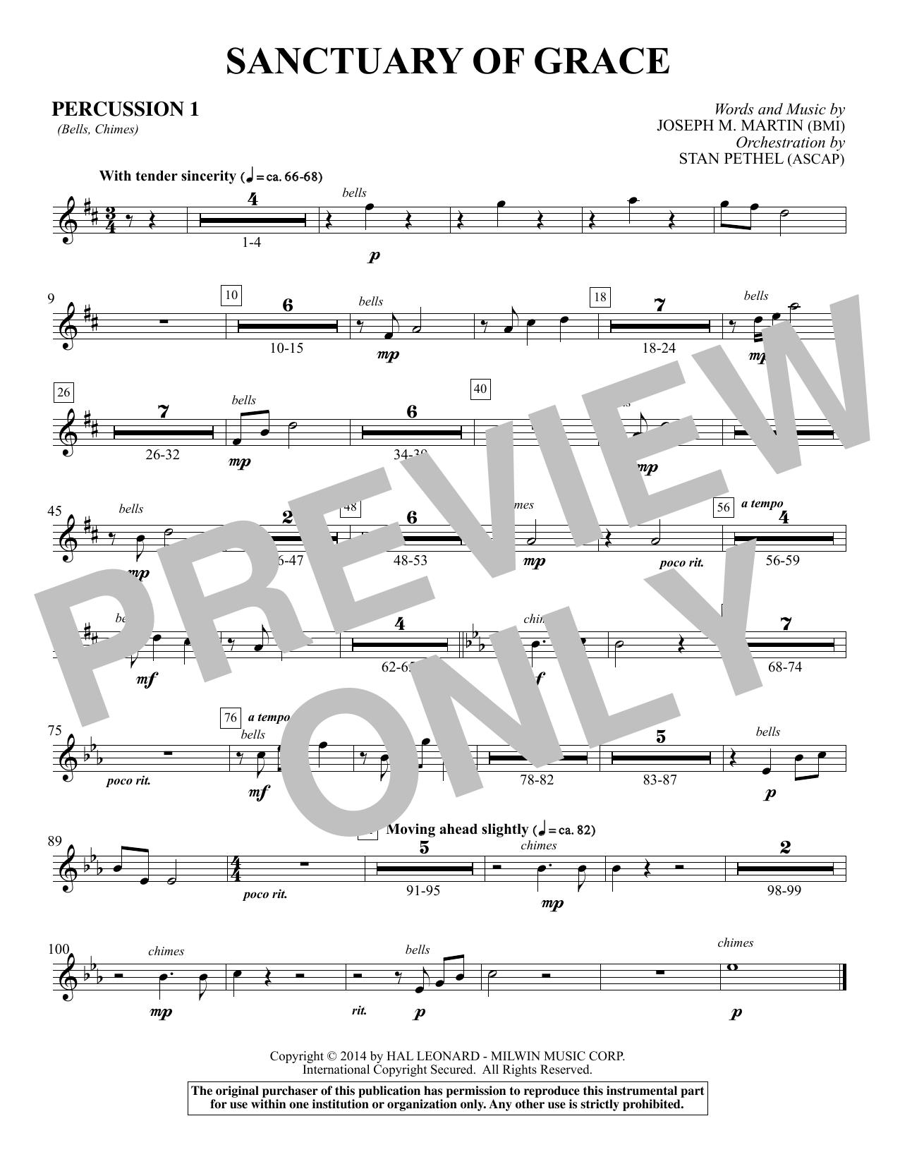 Sanctuary Of Grace (from Sanctuary) - Percussion 1 (Choir Instrumental Pak)